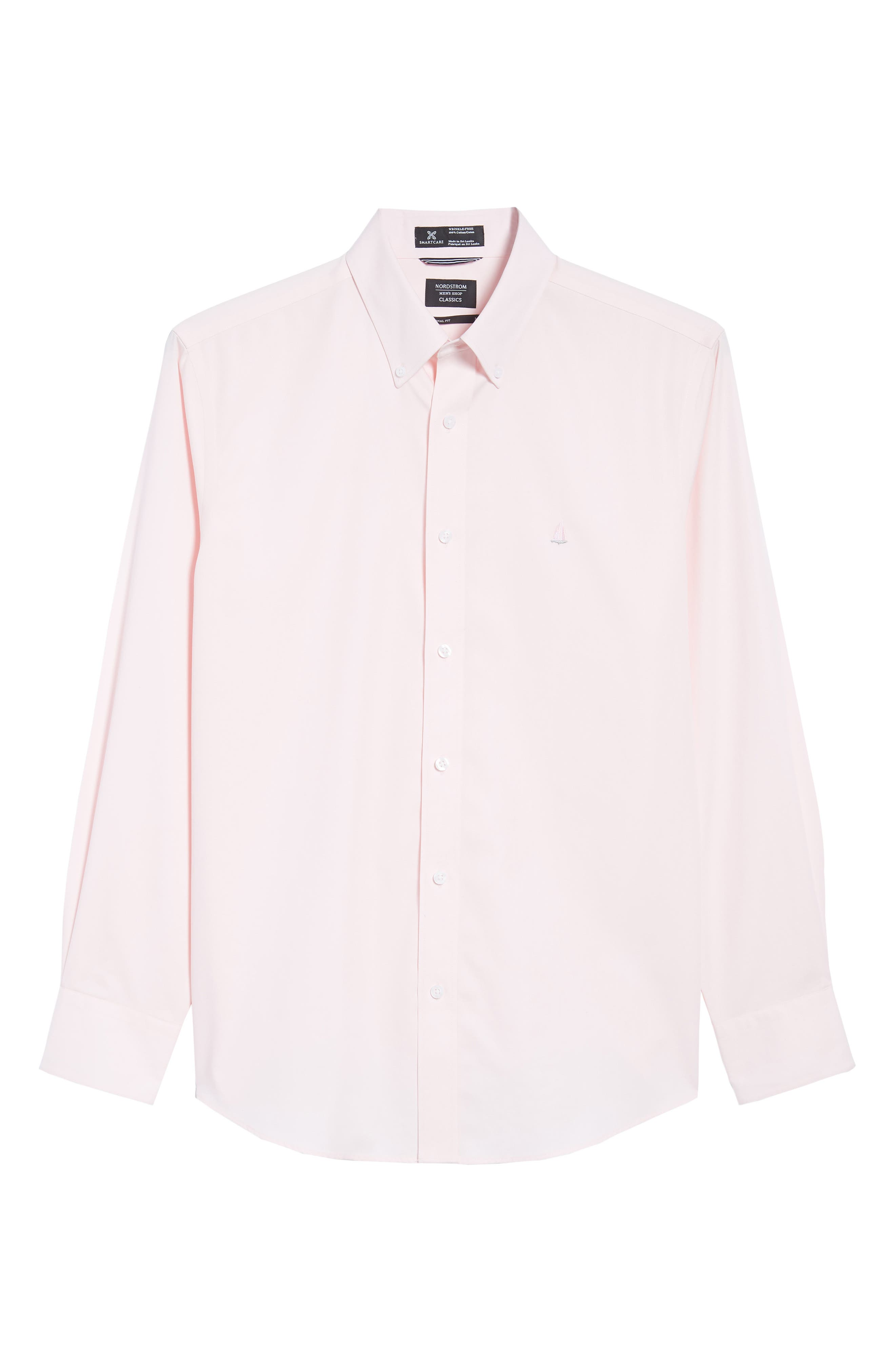 Smartcare<sup>™</sup> Traditional Fit Twill Boat Shirt,                             Alternate thumbnail 6, color,                             Pink Breath