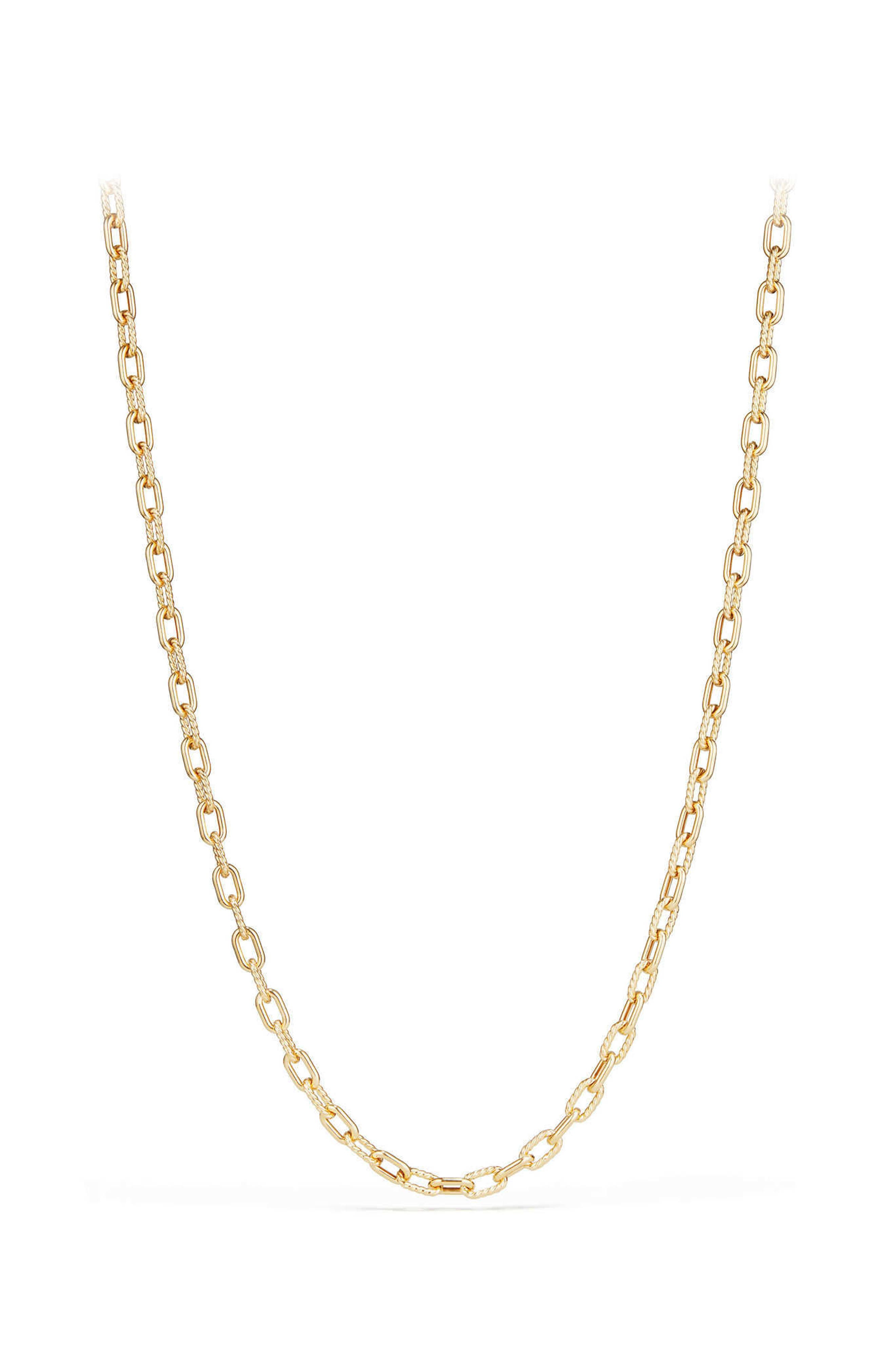 DY Madison Bold Chain Necklace in 18K Gold,                         Main,                         color, Gold