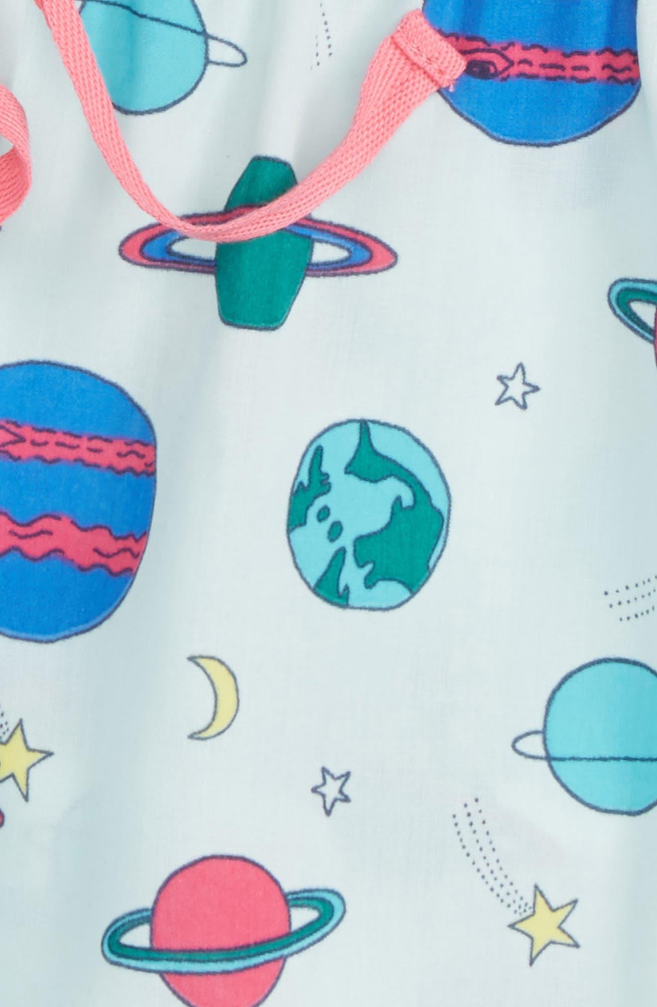 Ruffle Pajama Shorts,                             Alternate thumbnail 2, color,                             Teal Fair Space