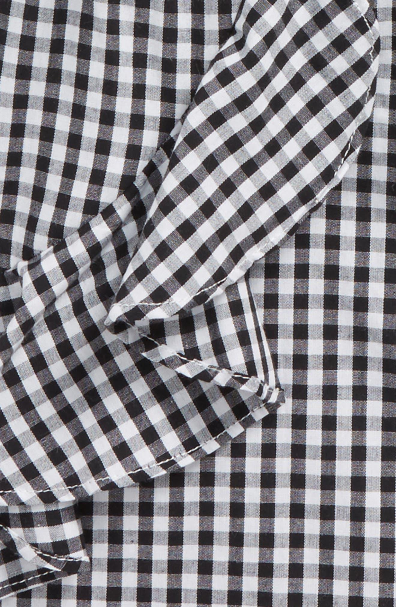Gigi Gingham Dress,                             Alternate thumbnail 3, color,                             Black Gingham