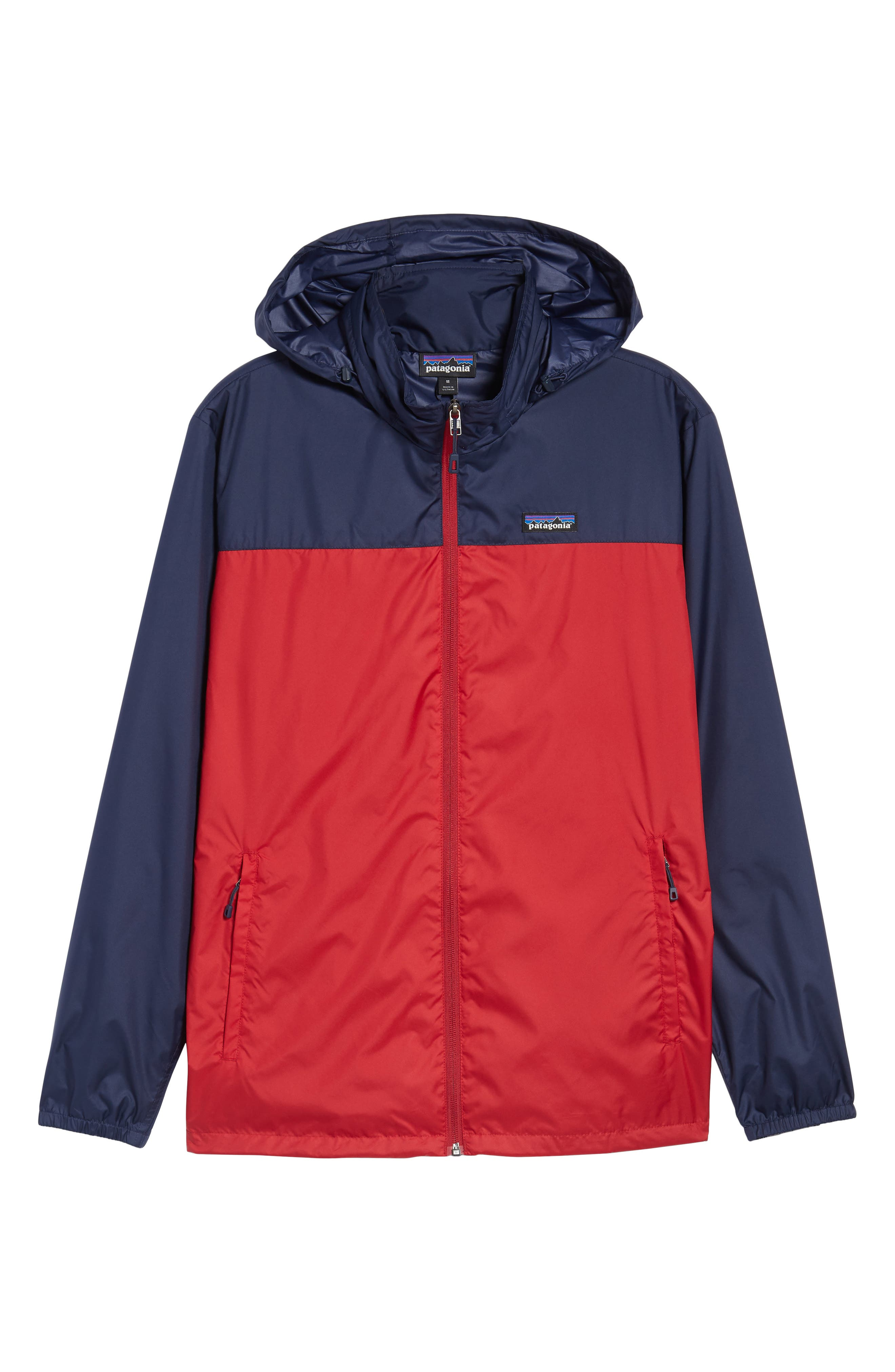 Light & Variable<sup>™</sup> Wind & Water Resistant Hooded Jacket,                             Alternate thumbnail 6, color,                             Classic Red