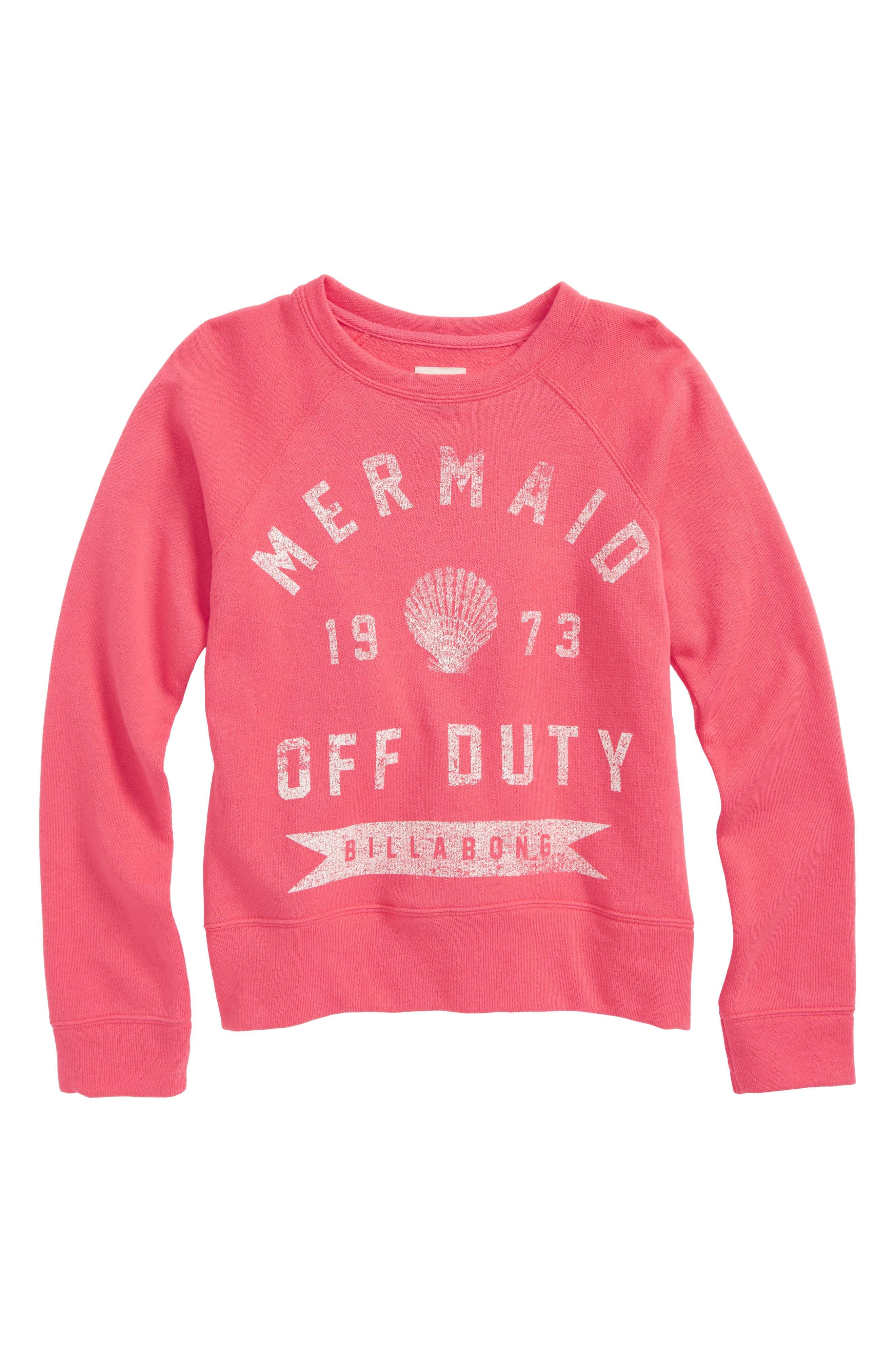 Billabong Whole Hearted Graphic Sweatshirt (Little Girls & Big Girls)