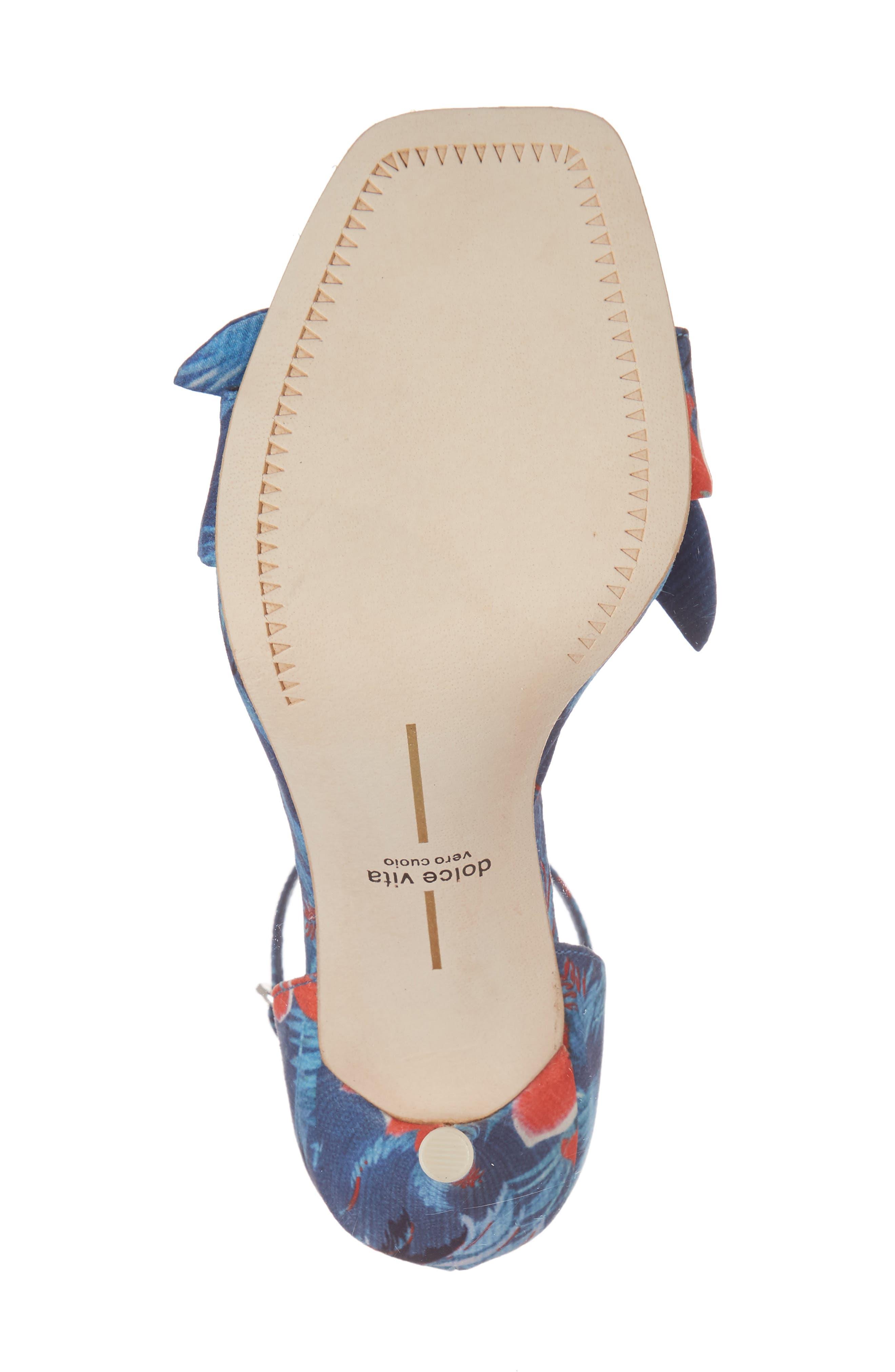 Helana Knotted Sandal,                             Alternate thumbnail 6, color,                             Blue Multi