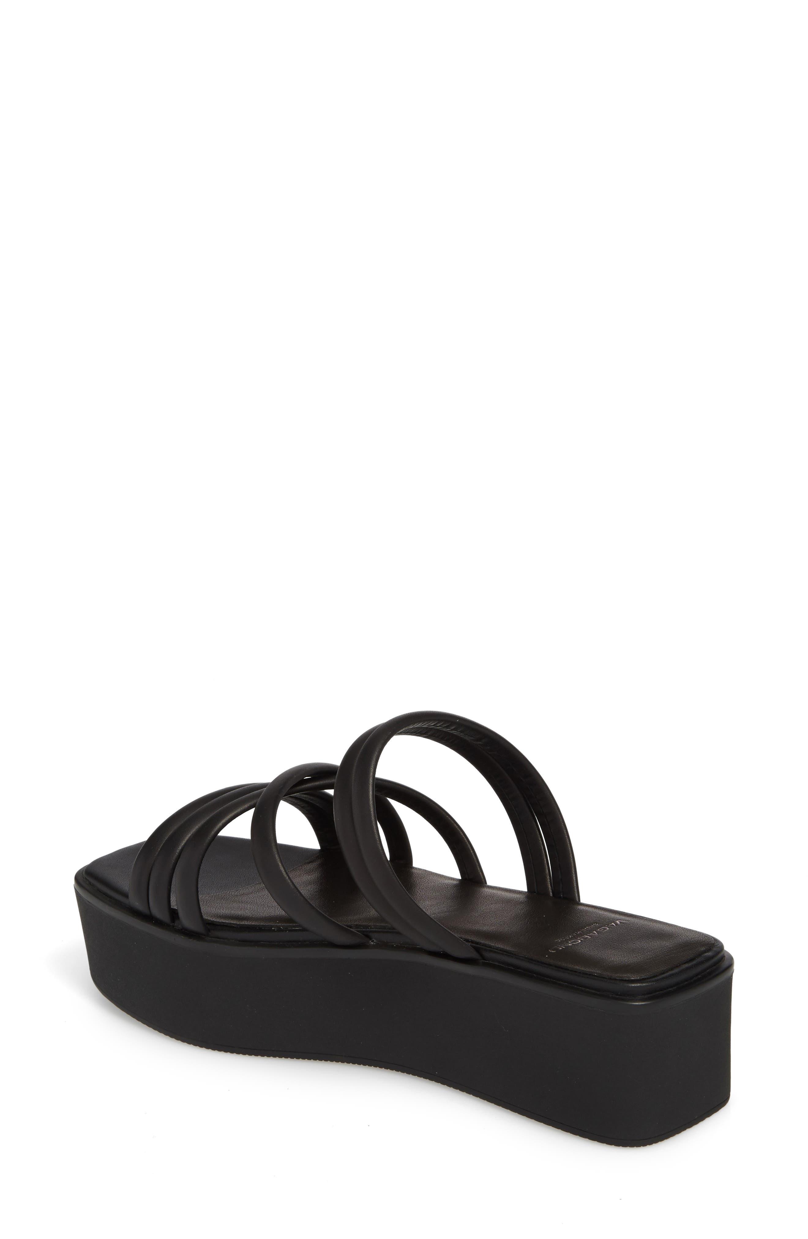 Bonnie Platform Sandal,                             Alternate thumbnail 2, color,                             Black Leather