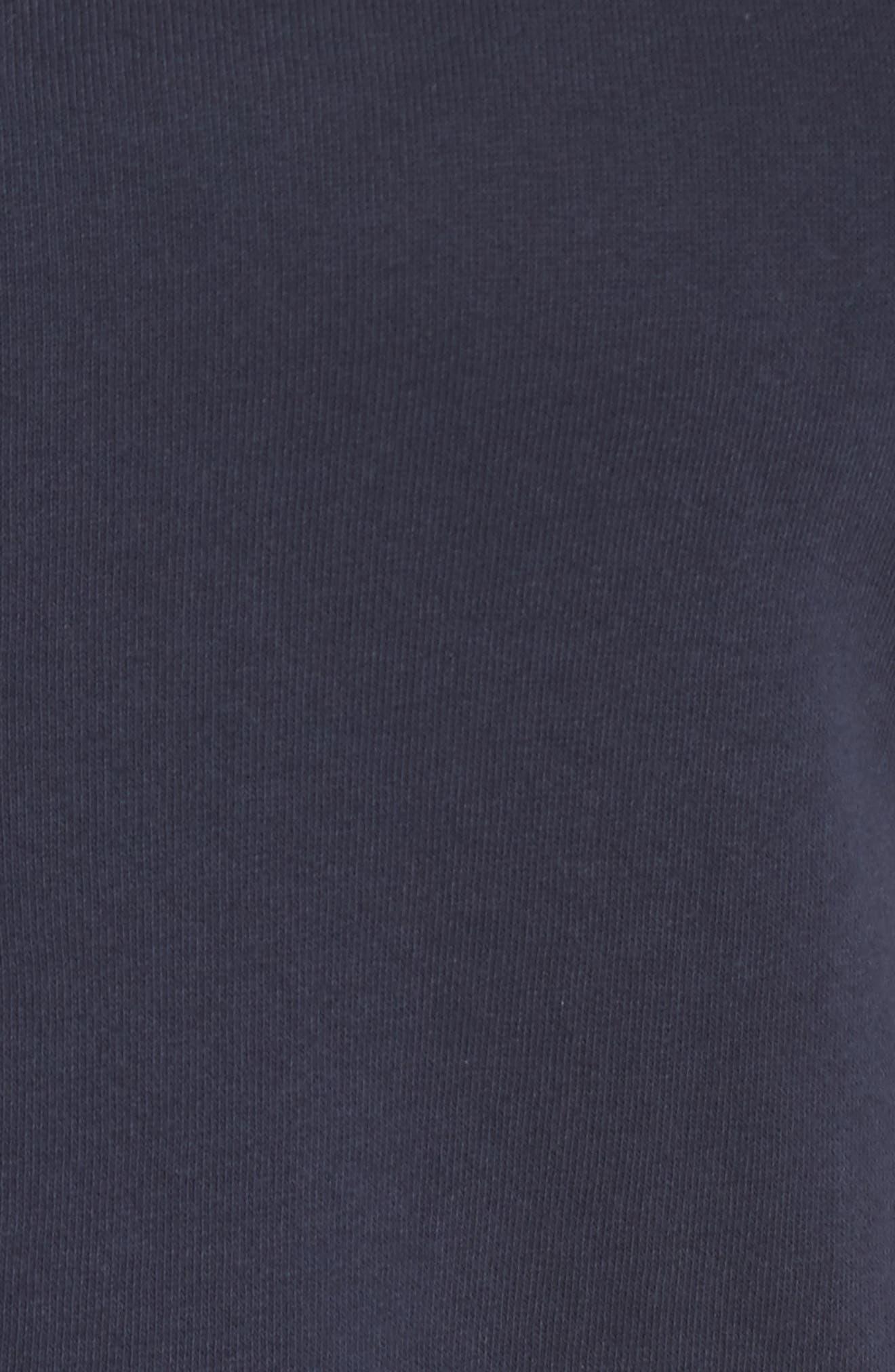 Mixed Seam Ruffle Sweatshirt,                             Alternate thumbnail 5, color,                             Navy Indigo
