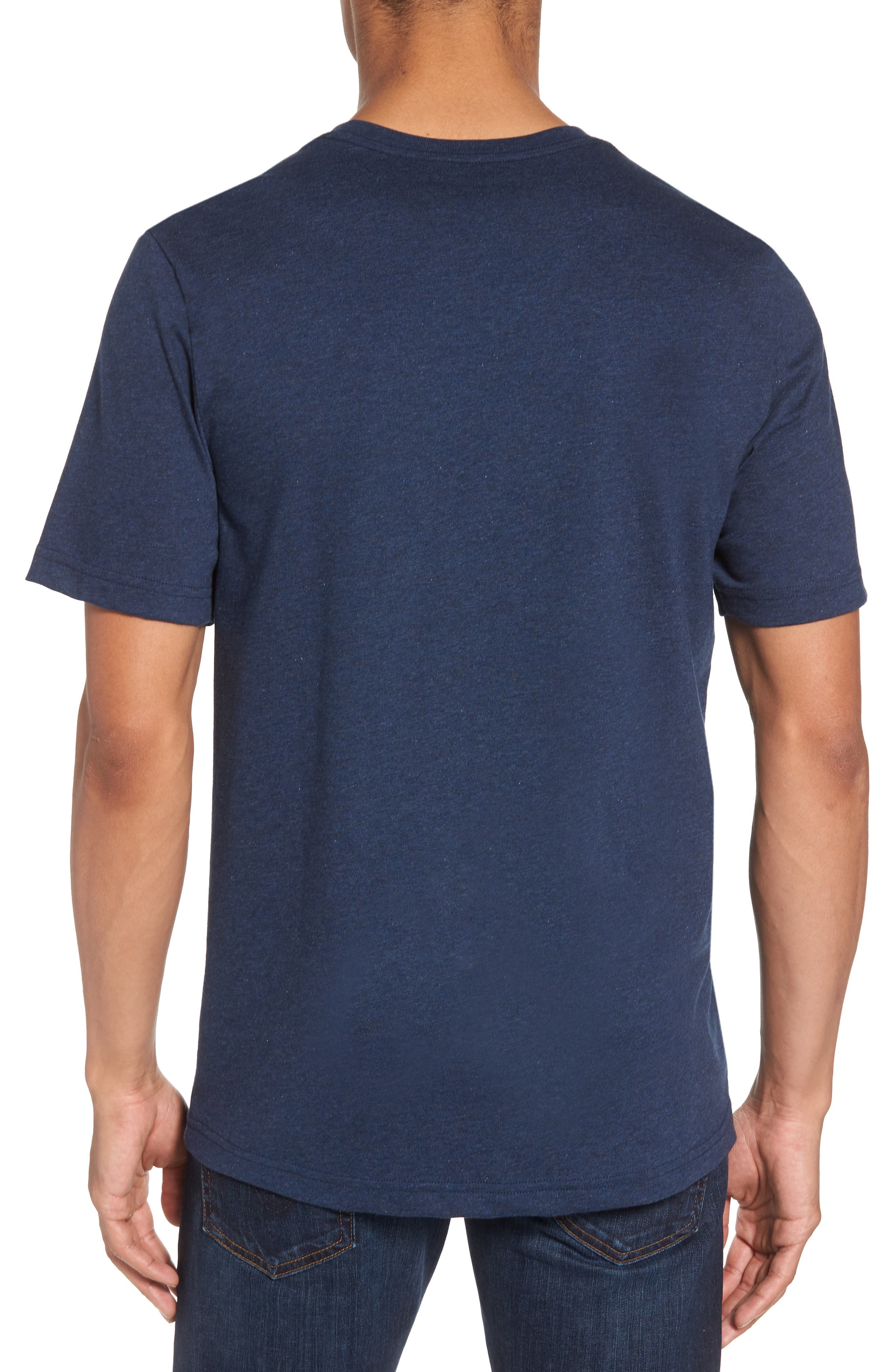 Bogue Pocket T-Shirt,                             Alternate thumbnail 2, color,                             Heather Blue Nights