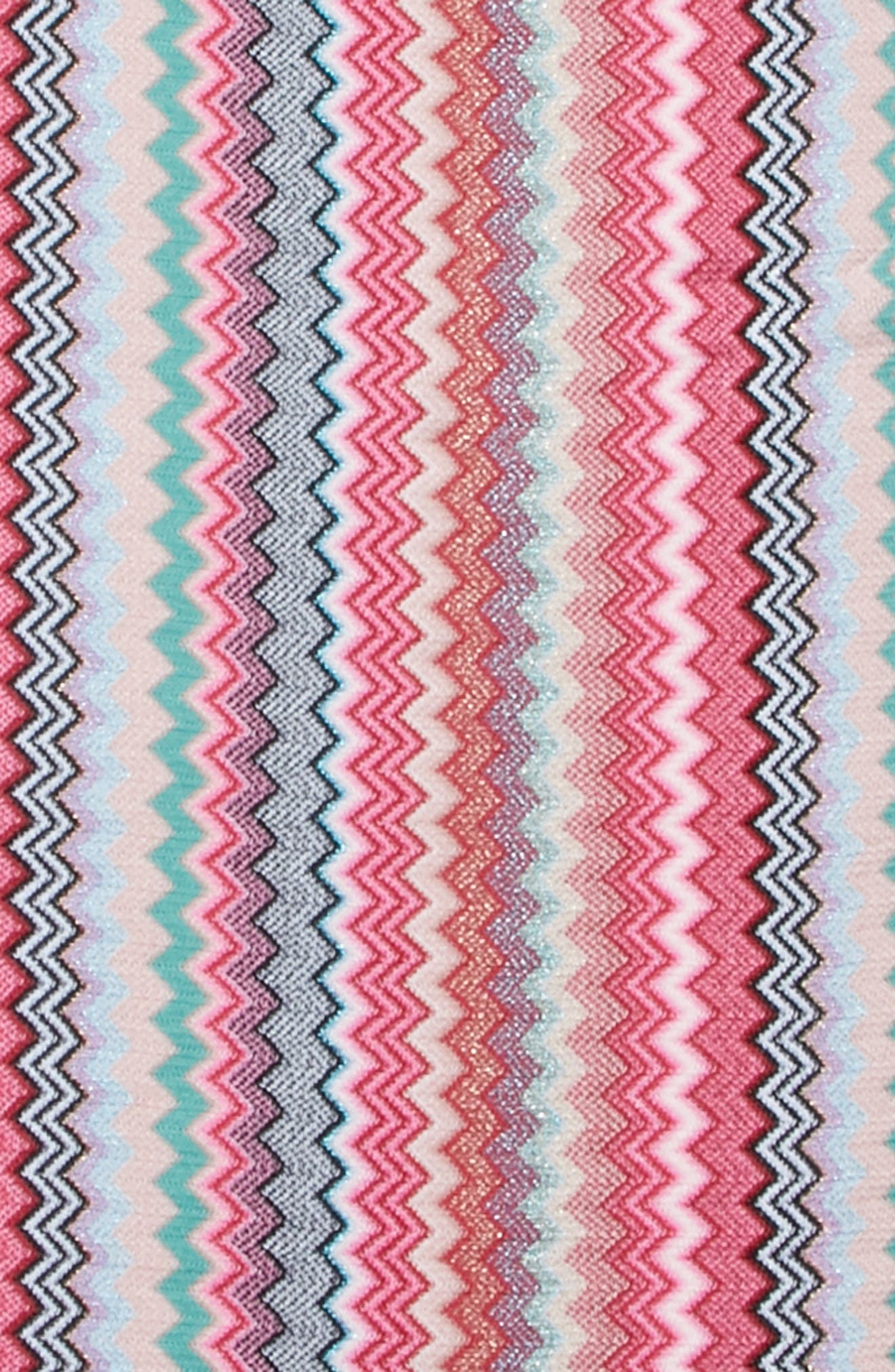 Zigzag Scarf,                             Alternate thumbnail 4, color,                             Pink