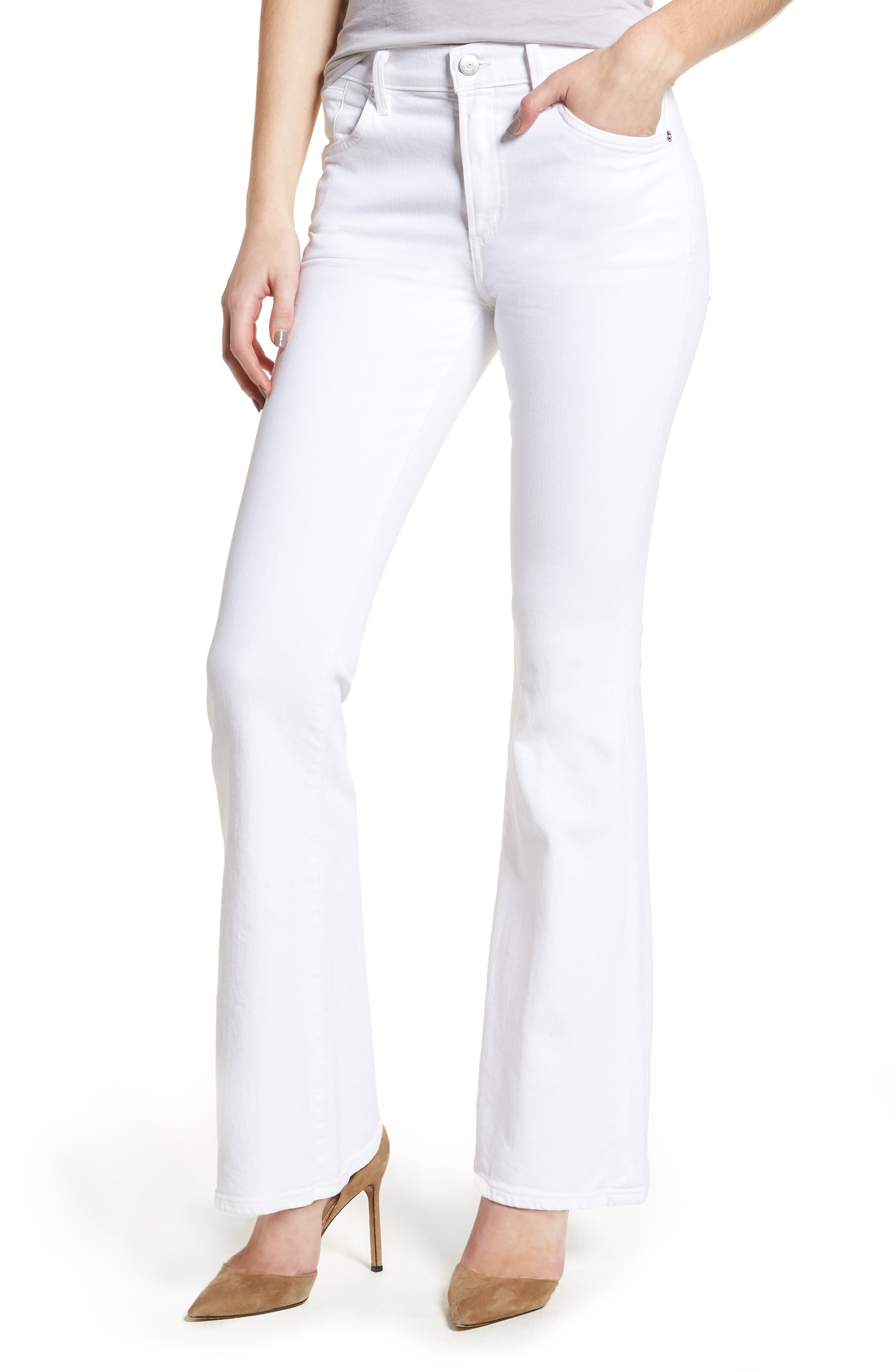 Fleetwood Flare Jeans,                             Main thumbnail 1, color,                             Optic White