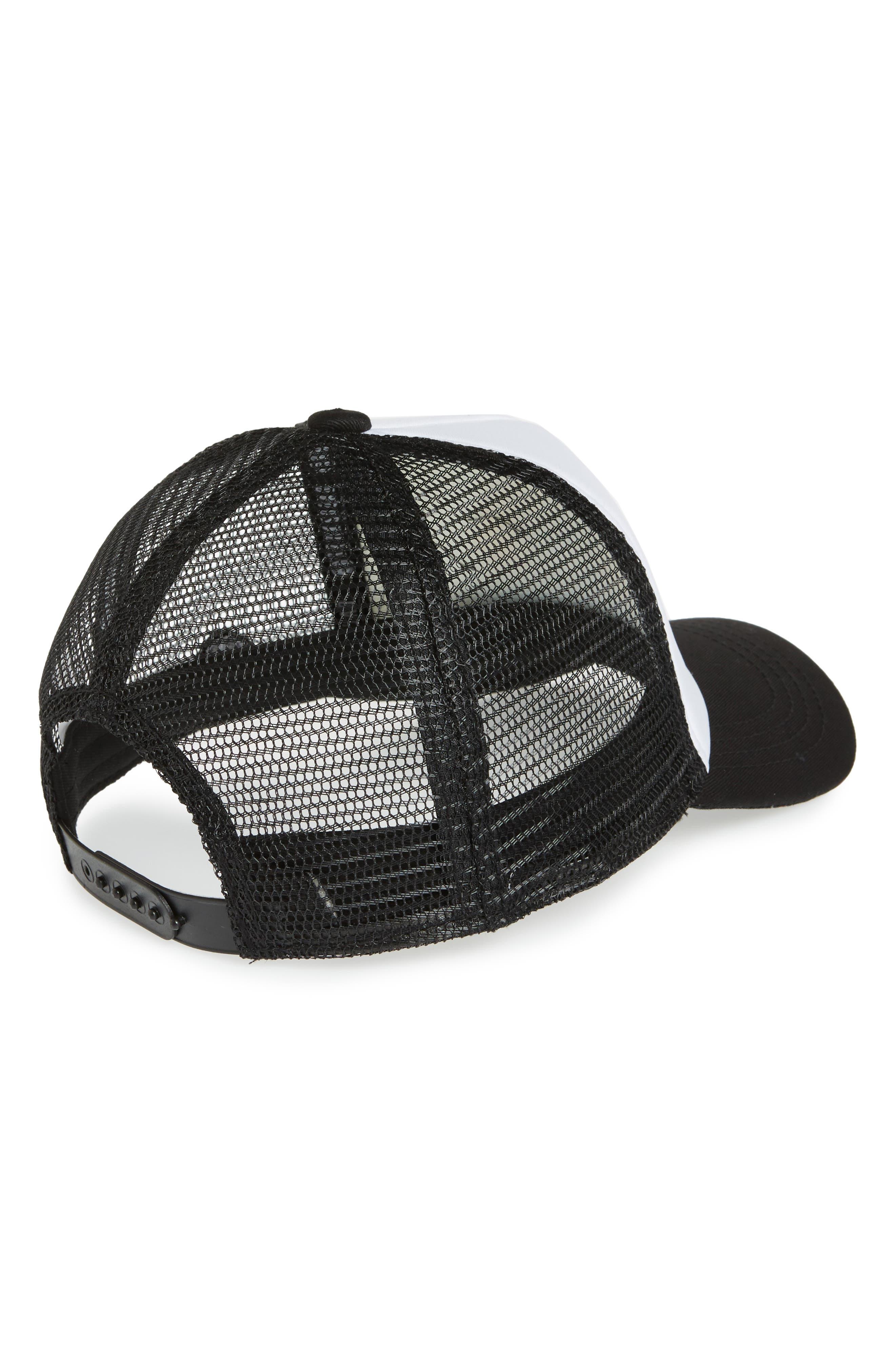 Cali Bear Trucker Hat,                             Alternate thumbnail 2, color,                             Black/ White