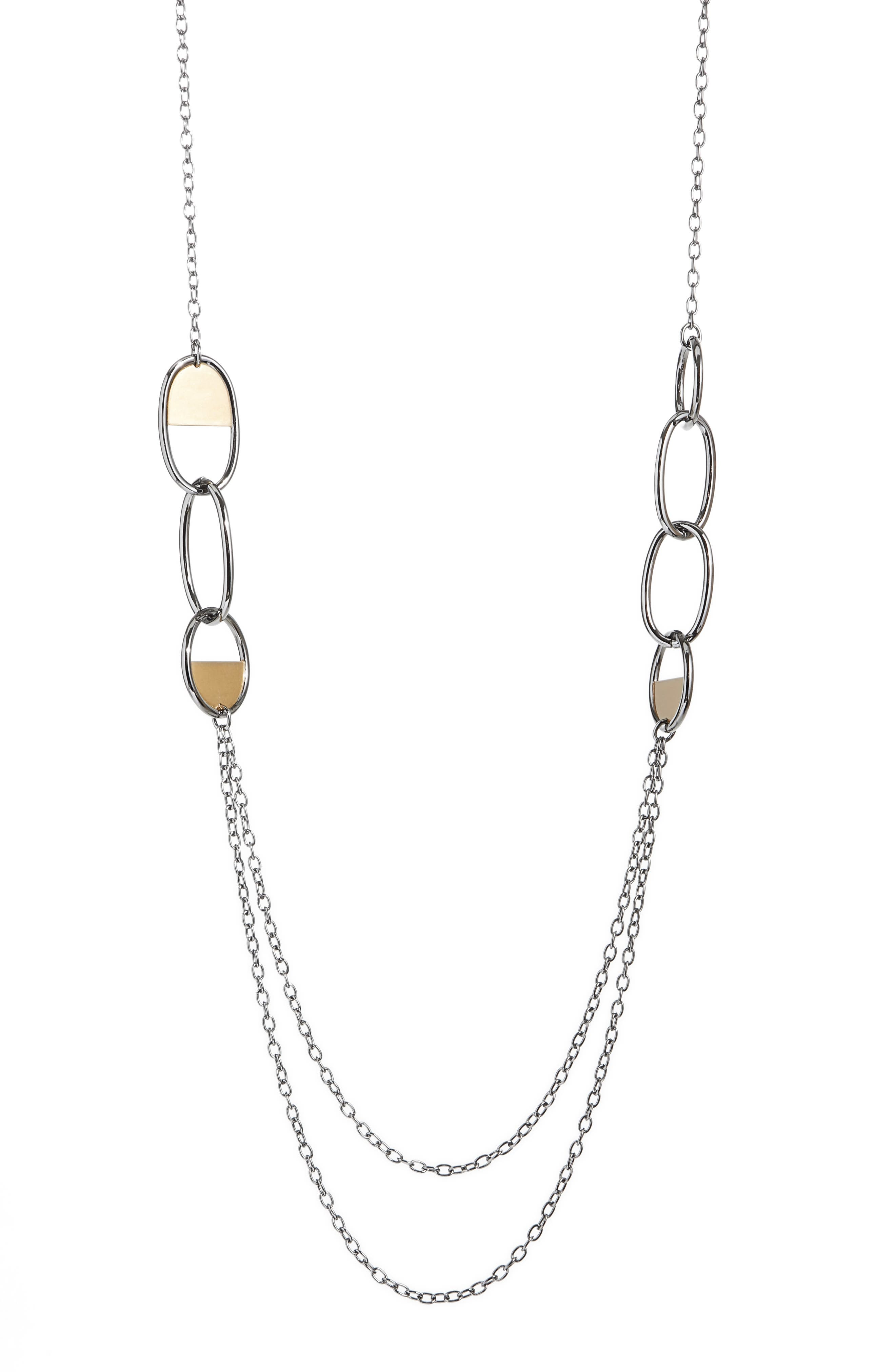 St. John Collection Mixed Metal Strand Necklace