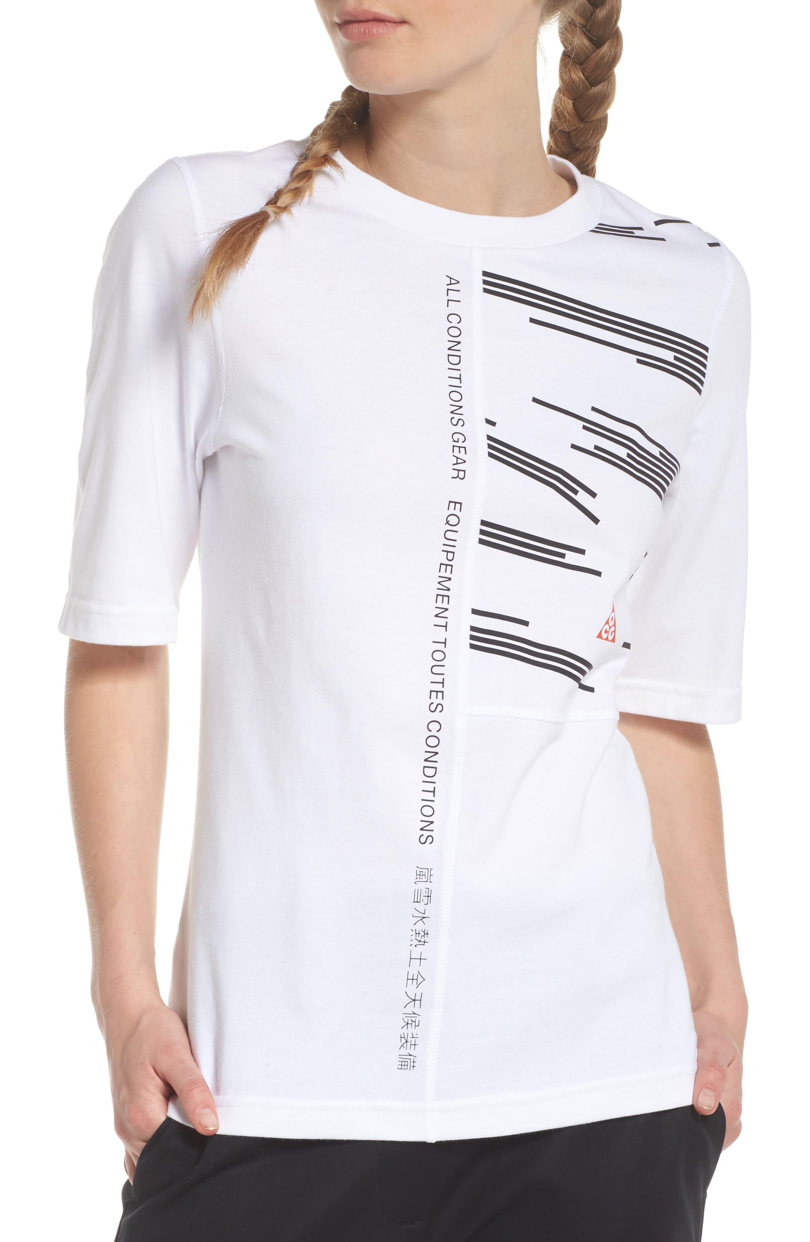 NikeLab AGC Tee,                             Main thumbnail 1, color,                             White/ Black