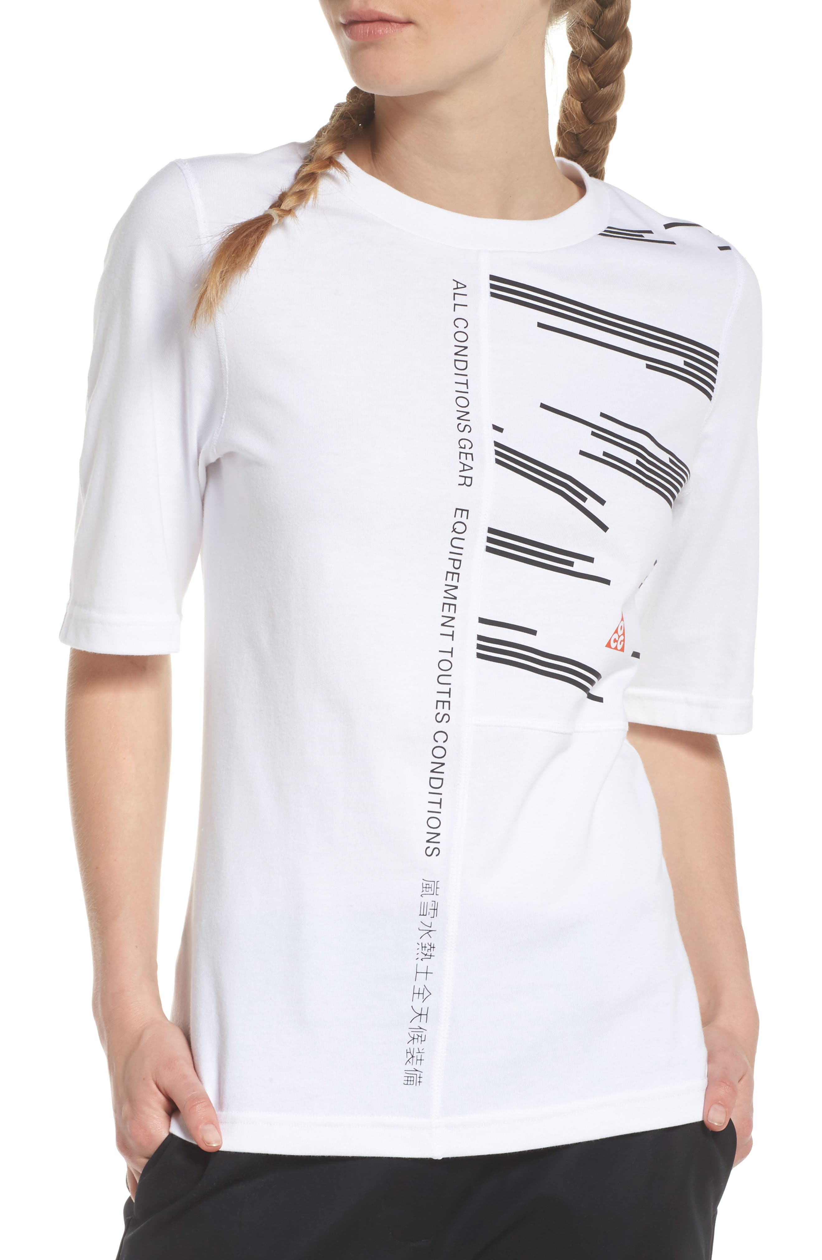 NikeLab AGC Tee,                         Main,                         color, White/ Black