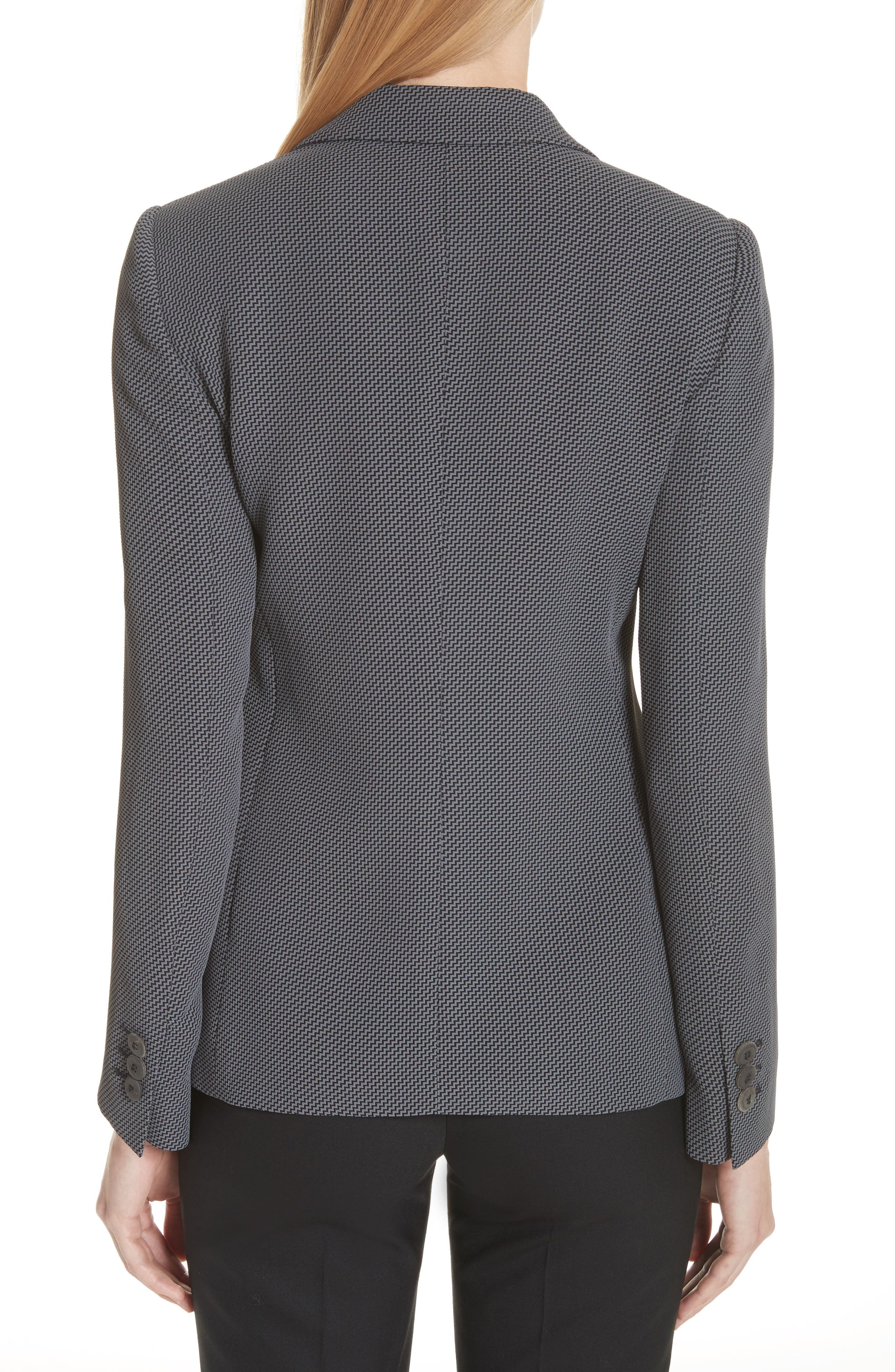 Stretch Crepe Blazer,                             Alternate thumbnail 2, color,                             Dark Grey