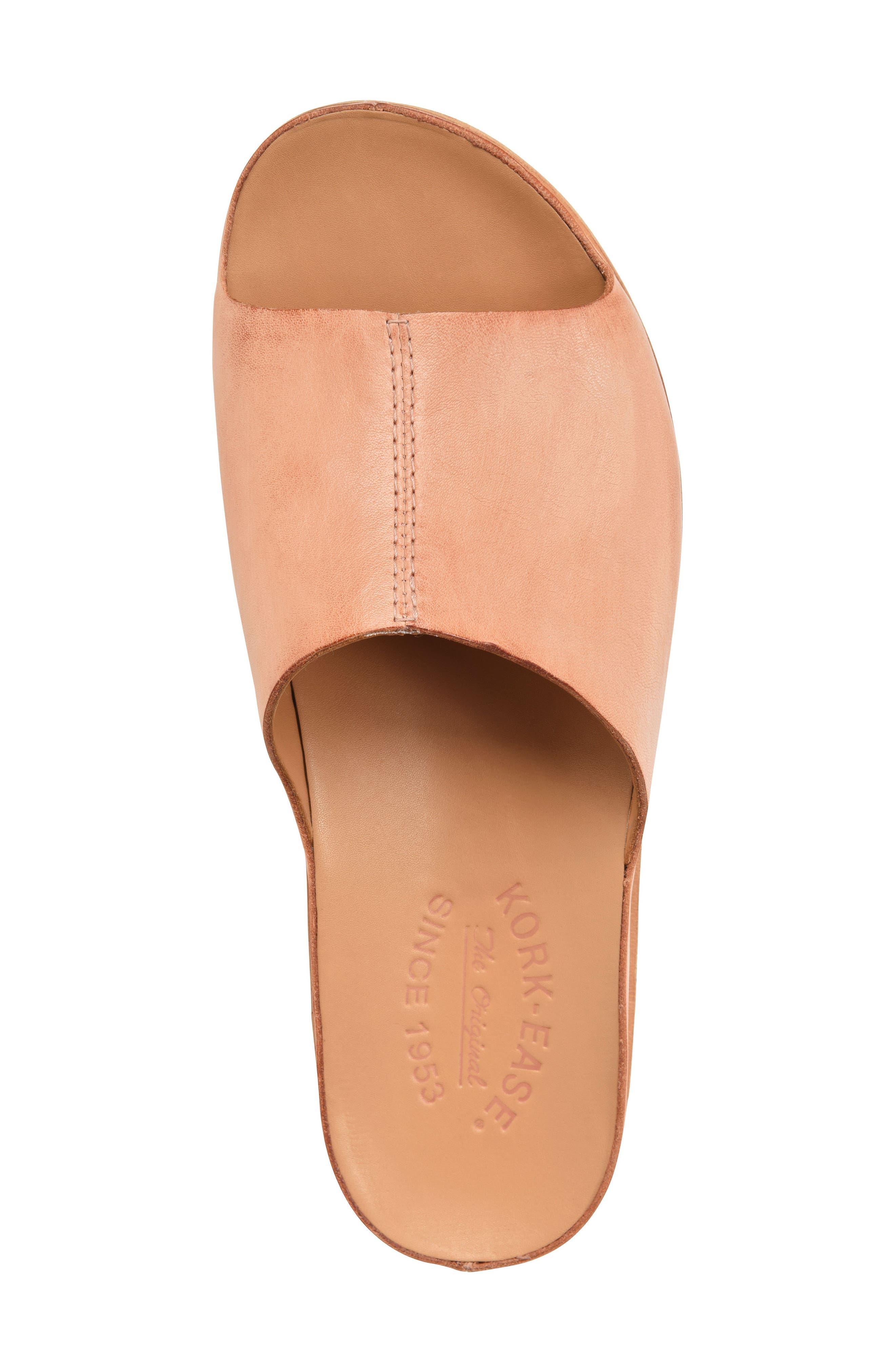 'Tutsi' Slide Sandal,                             Alternate thumbnail 5, color,                             Blush Leather