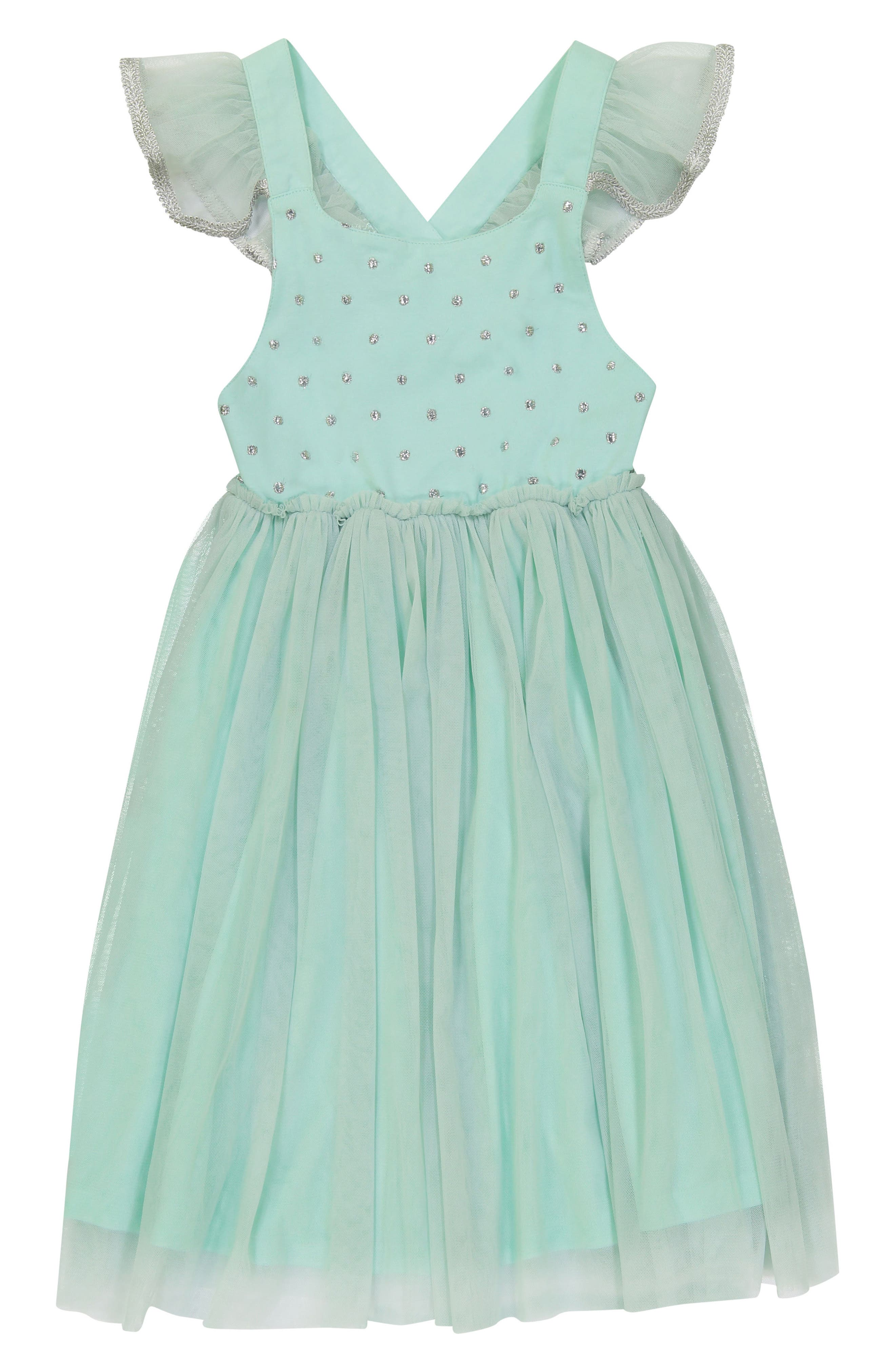 Diya Tulle Sundress,                         Main,                         color, Turquoise