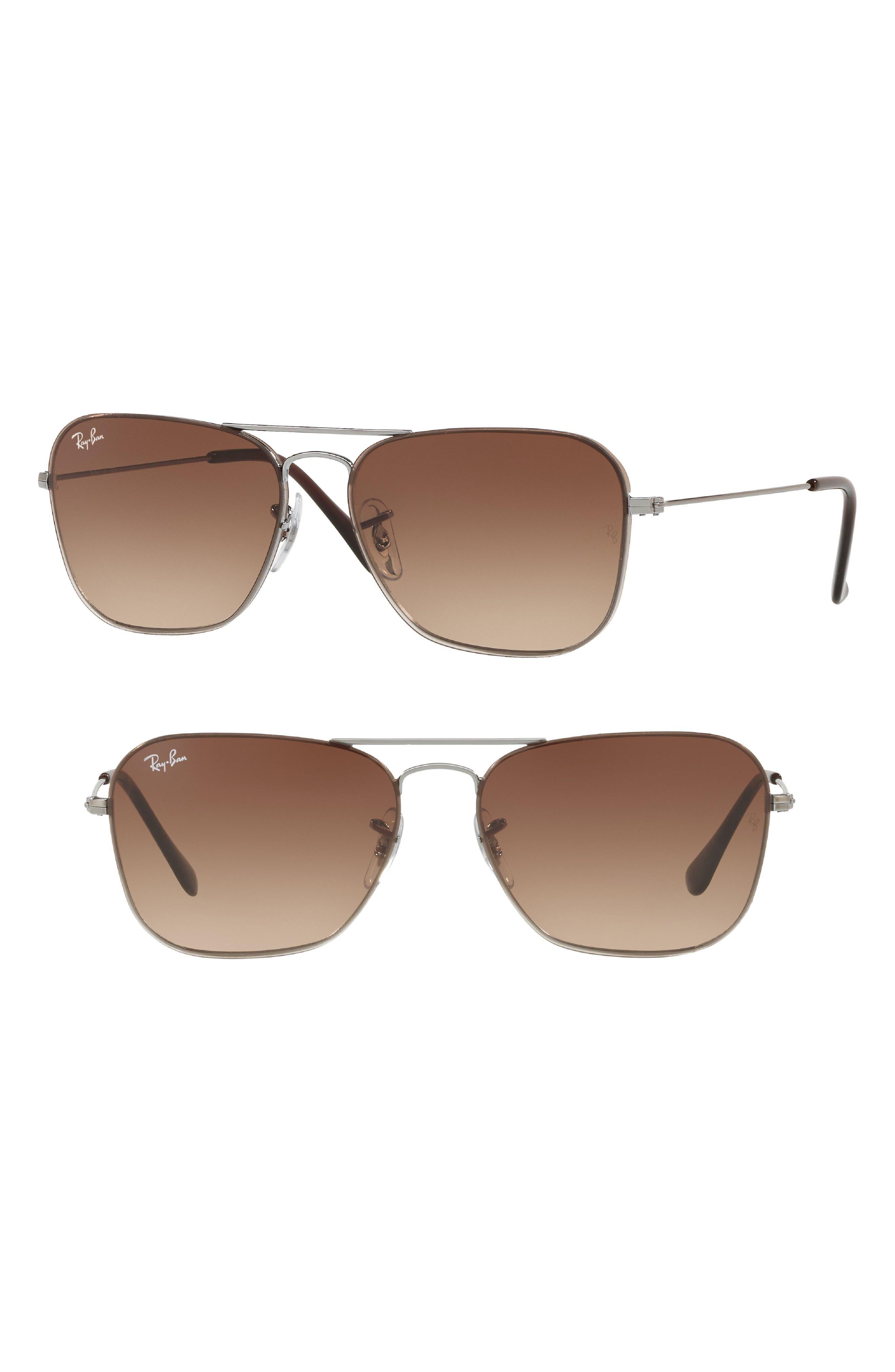 Youngster 56mm Aviator Sunglasses,                             Main thumbnail 1, color,                             Gunmetal