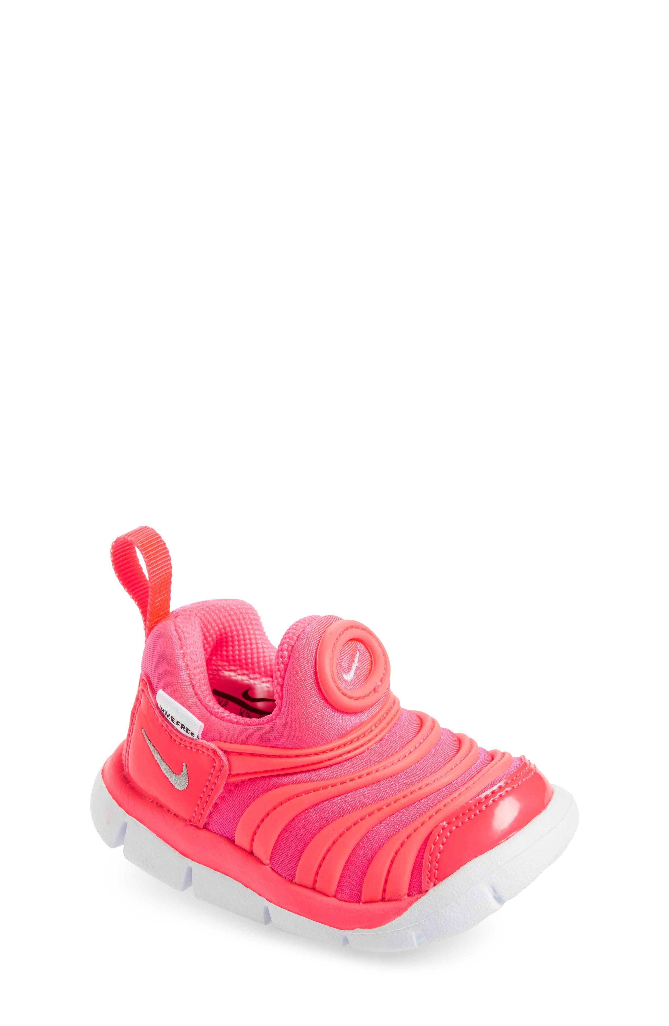 Dynamo Free Sneaker,                             Main thumbnail 1, color,                             Racer Pink/ Silver/ Hot Punch