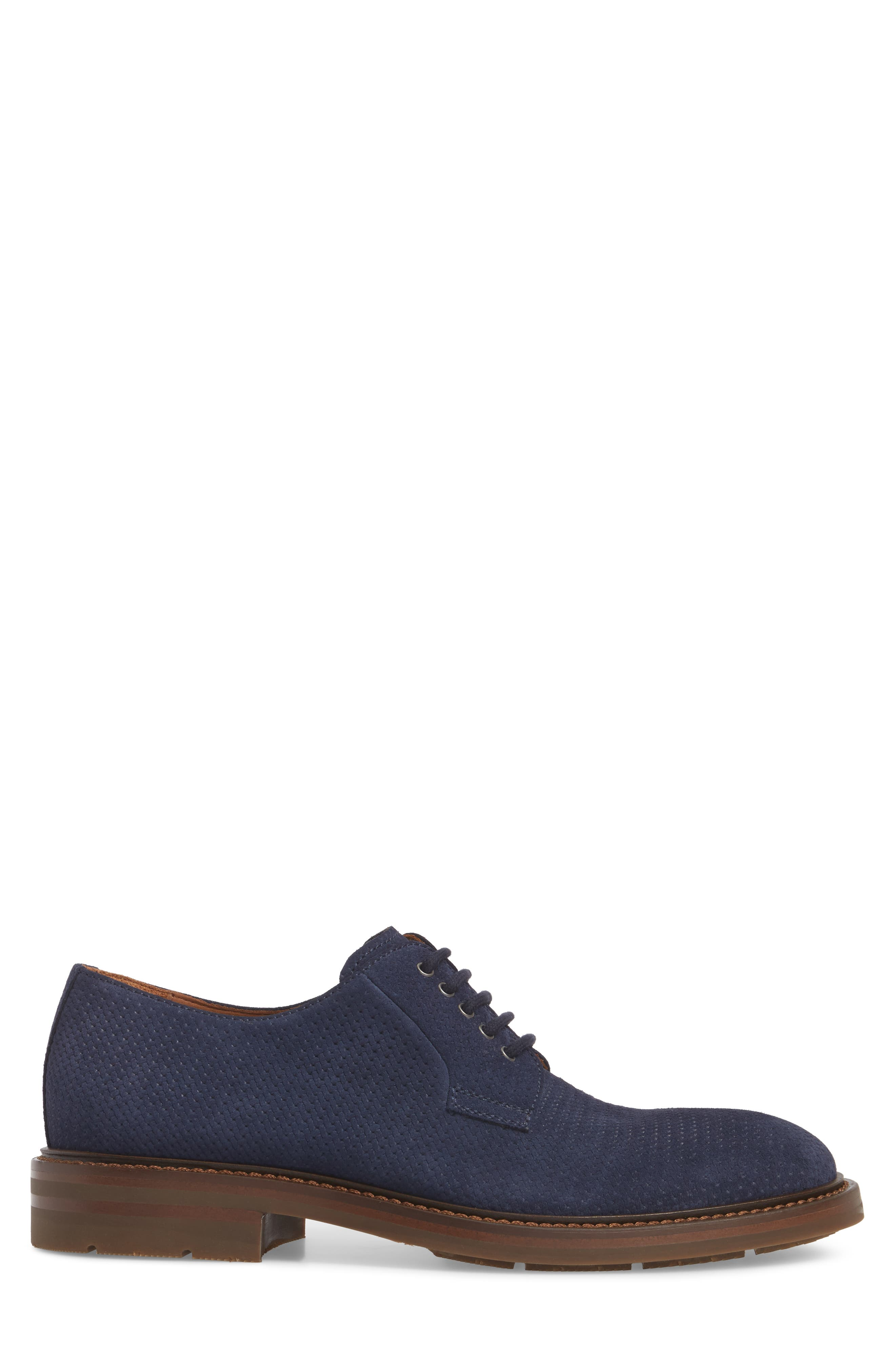 Roberto Embossed Weatherproof Oxford,                             Alternate thumbnail 3, color,                             Navy
