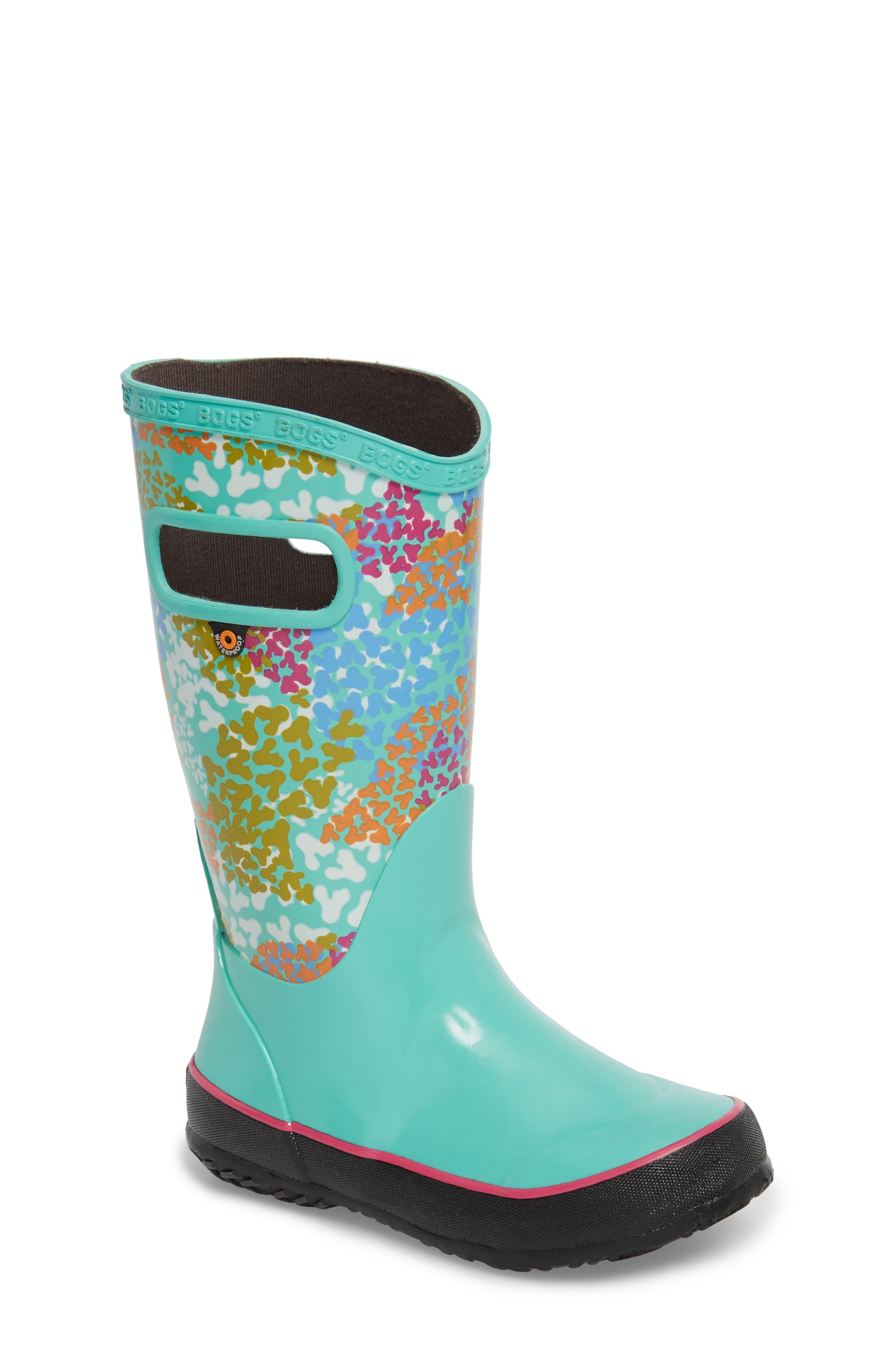 Bogs Skipper Footprints Rubber Rain Boot (Walker, Toddler & Little Kid)