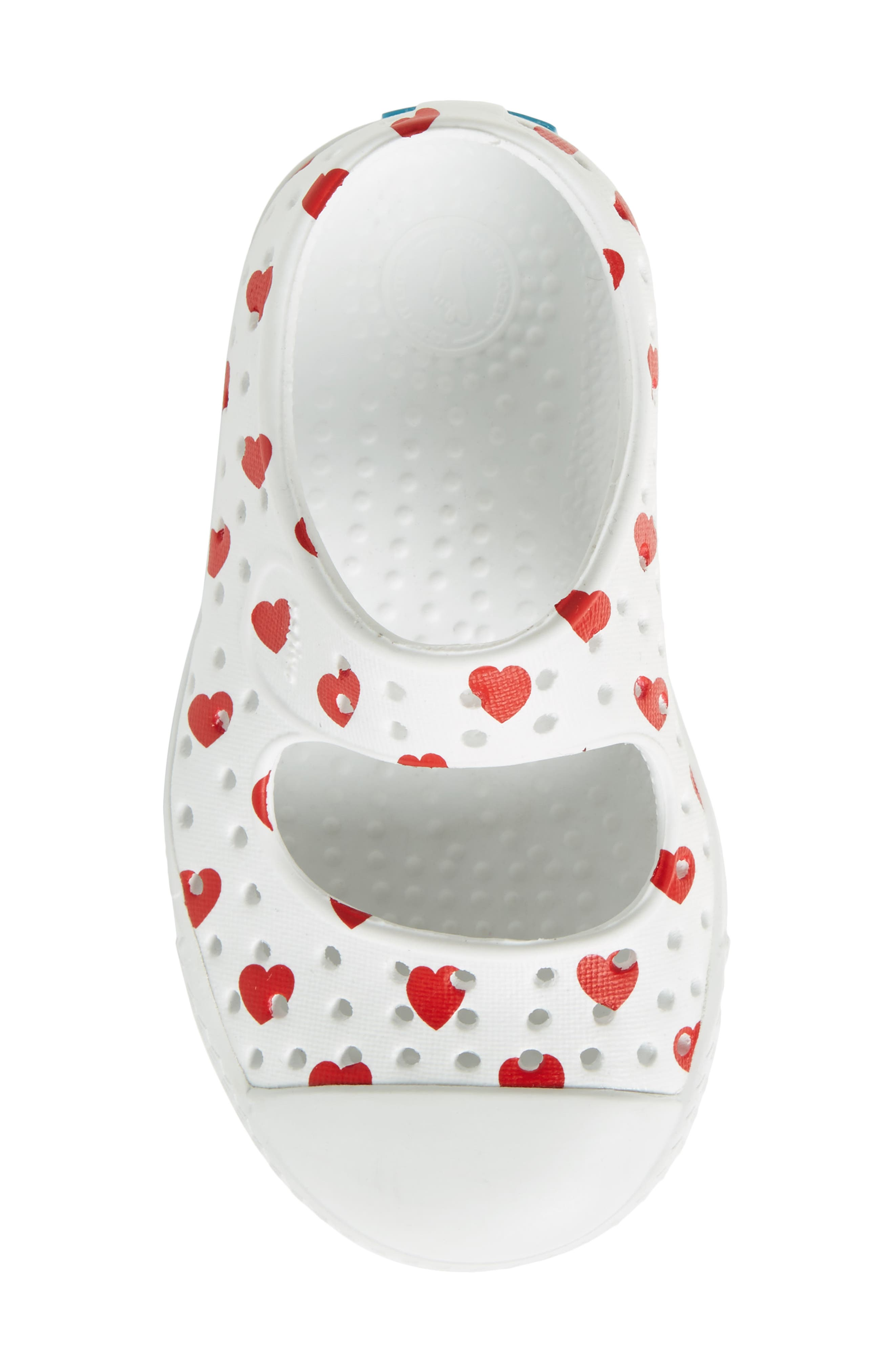 Native Juniper Print Perforated Mary Jane,                             Alternate thumbnail 5, color,                             Shell White/ Torch Blue Heart
