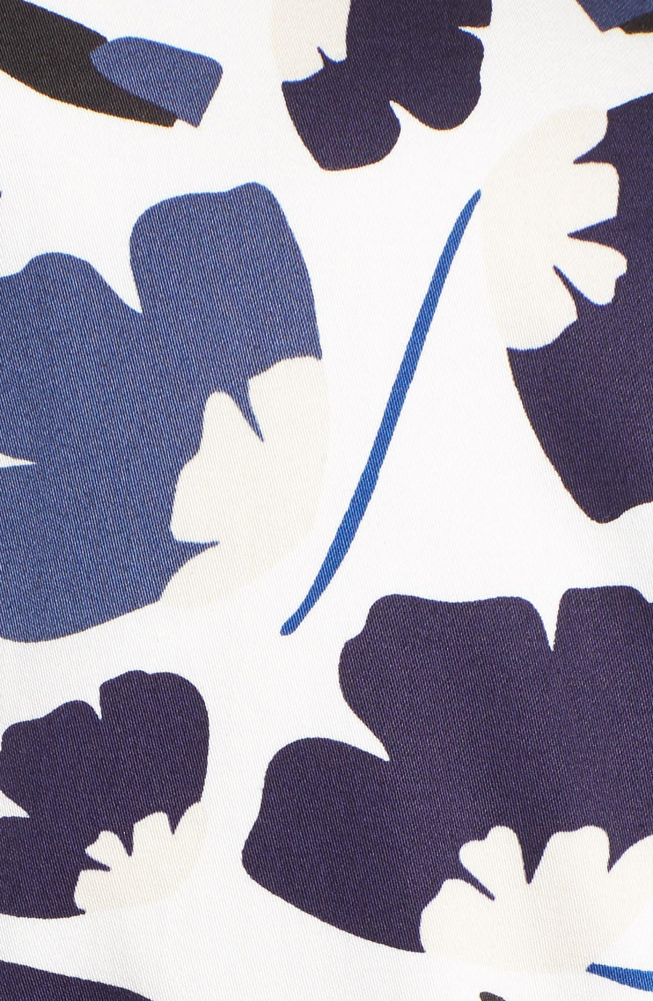 New York Humboldt Cotton Sateen Dress,                             Alternate thumbnail 5, color,                             Monaco Combo