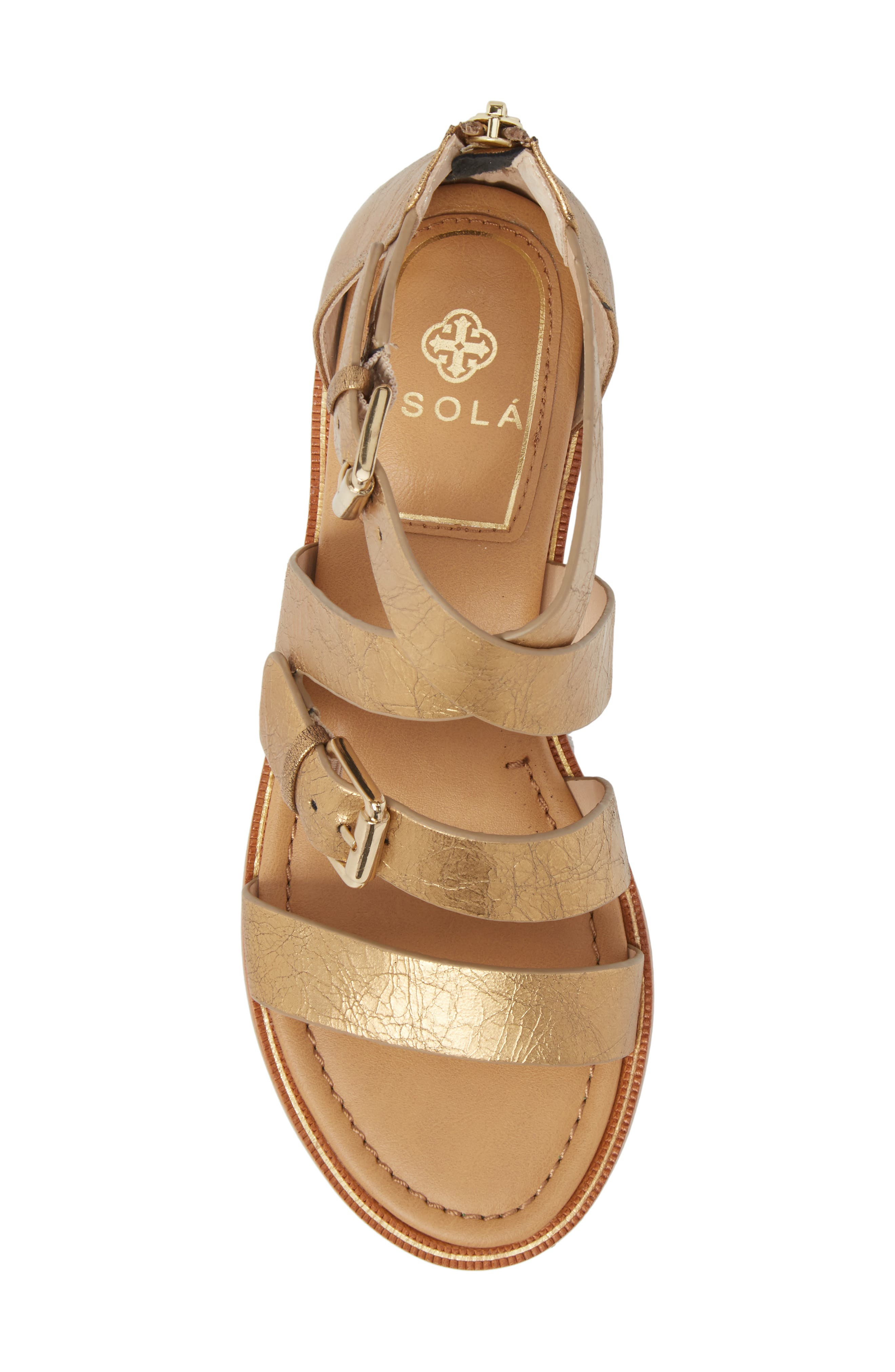 Isola Sharni Sandal,                             Alternate thumbnail 5, color,                             Old Gold Leather
