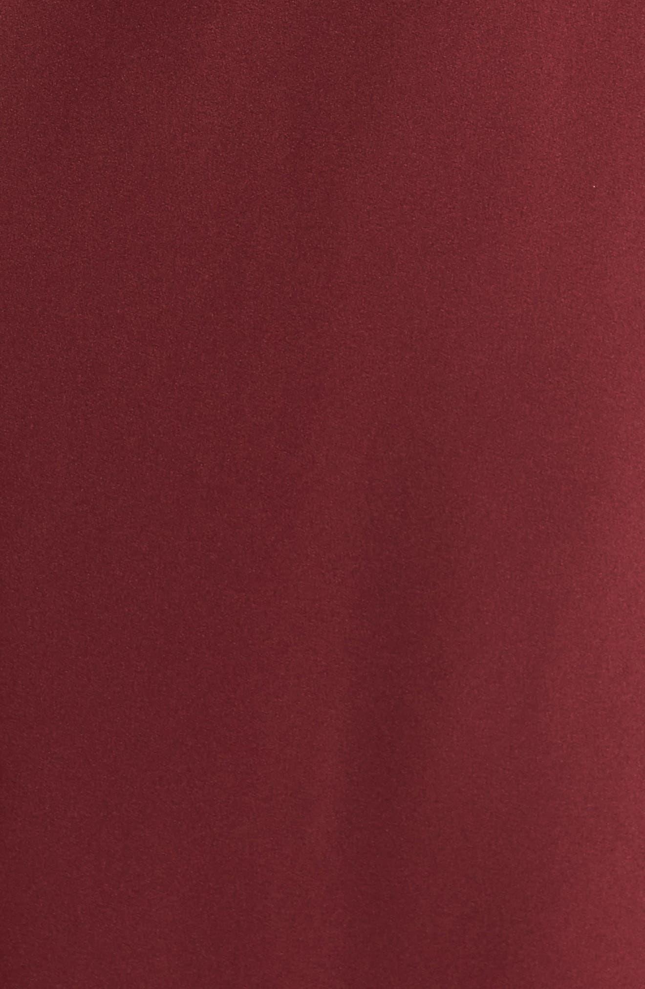 Alternate Image 5  - La Femme Satin Off the Shoulder Gown