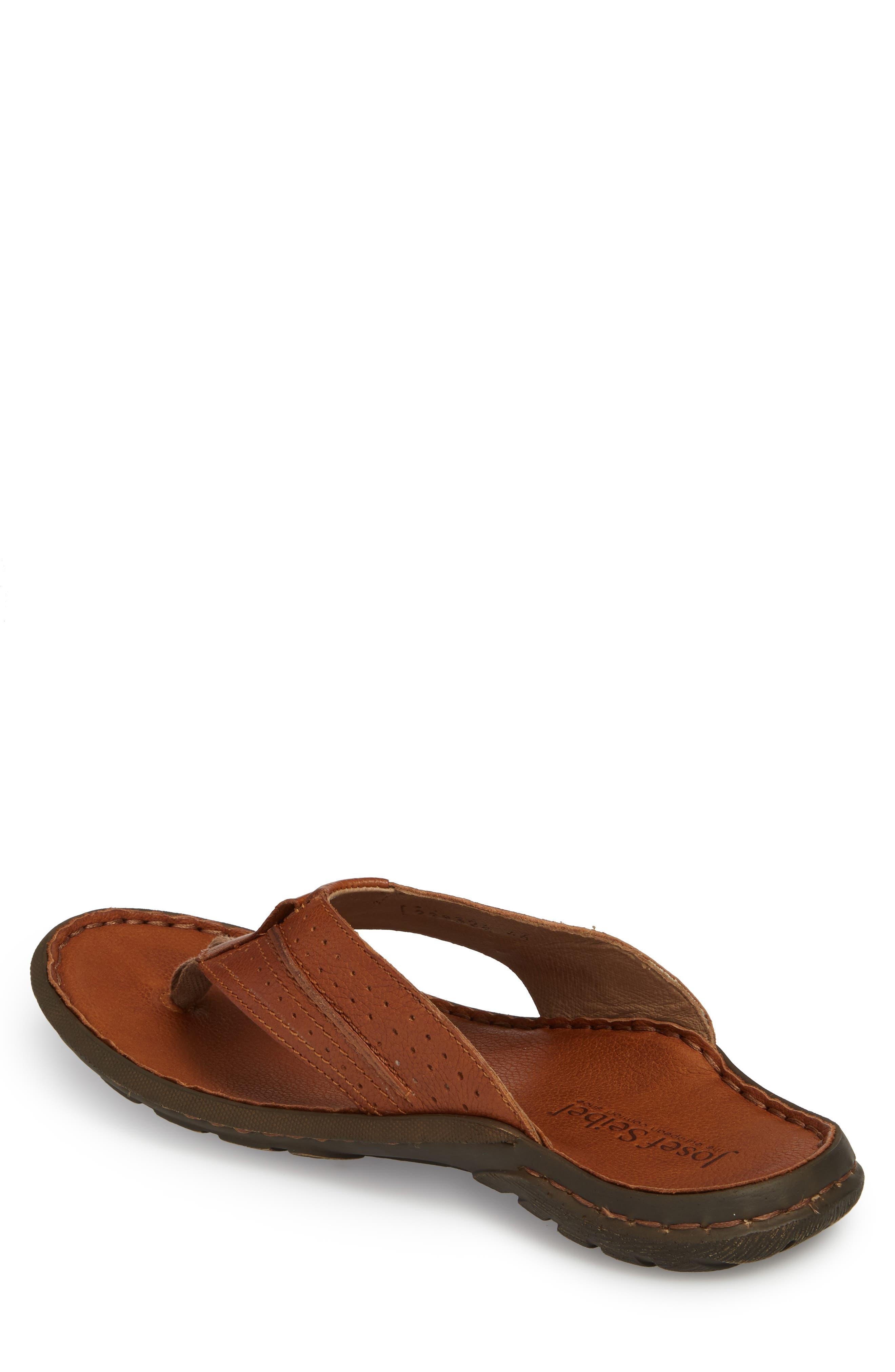 Logan Flip Flop,                             Alternate thumbnail 2, color,                             Brown Leather
