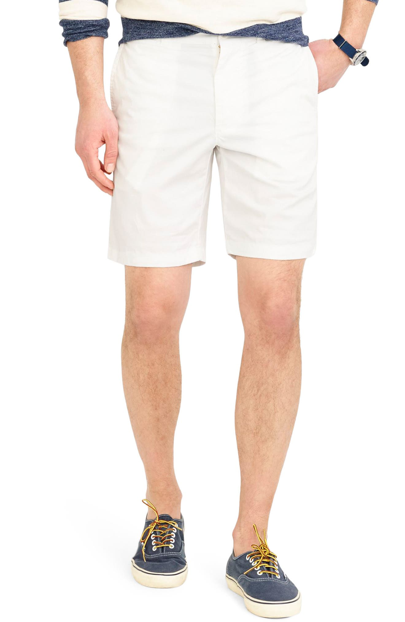 Stretch Chino Shorts,                         Main,                         color, White