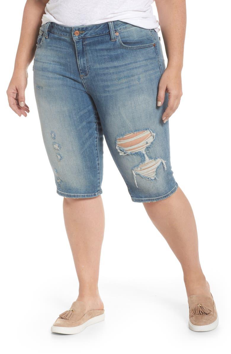Ginger Ripped Denim Bermuda Shorts