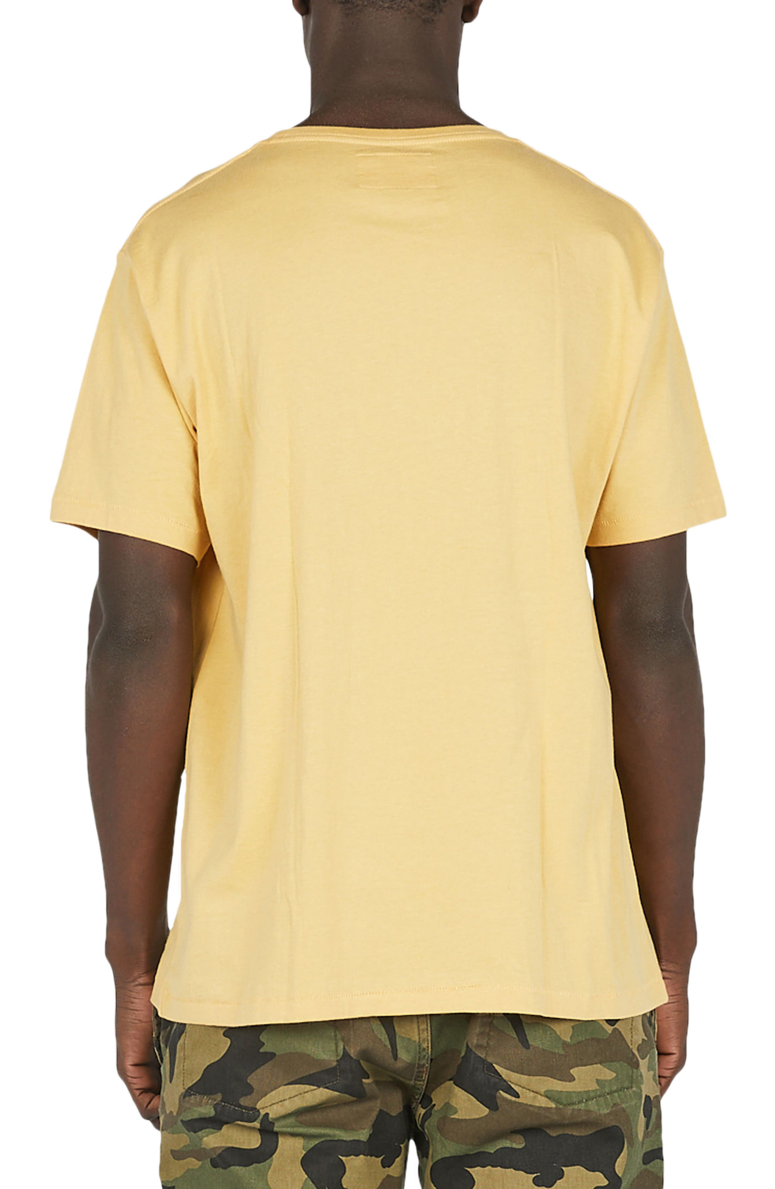 Disco Embroidered T-Shirt,                             Alternate thumbnail 2, color,                             Mustard