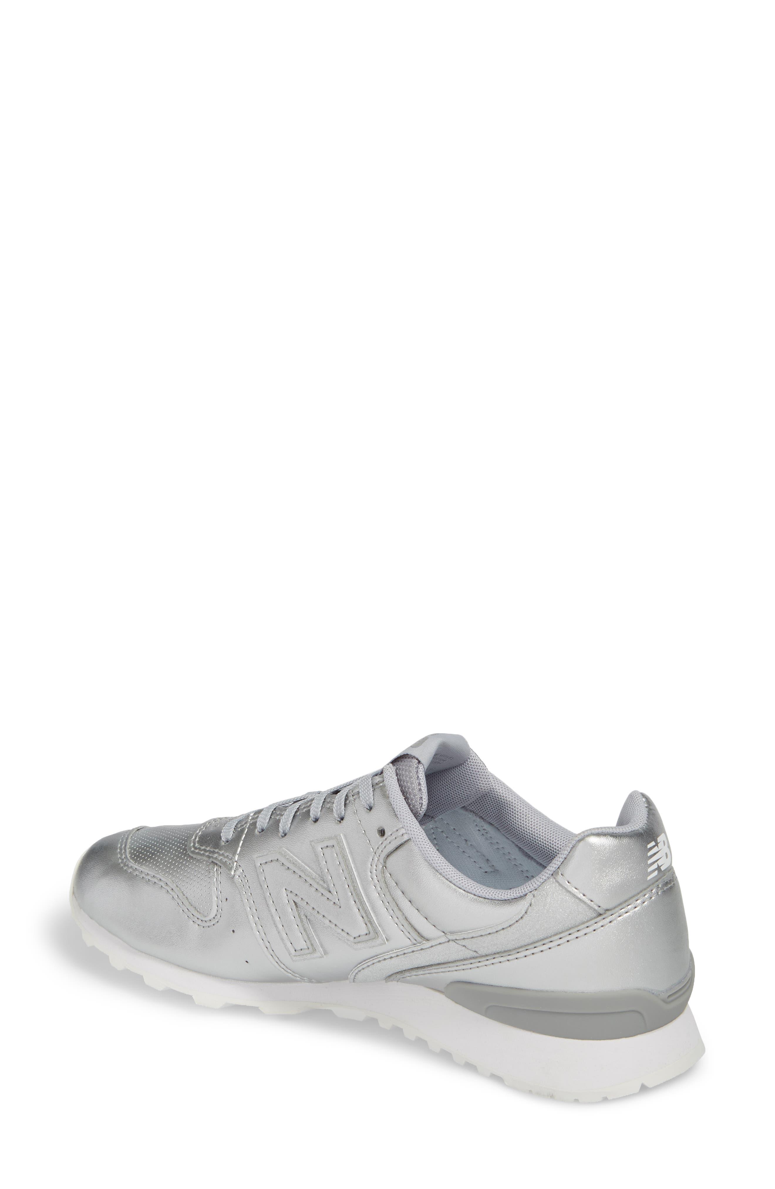 696 Sneaker,                             Alternate thumbnail 2, color,                             Metallic Silver