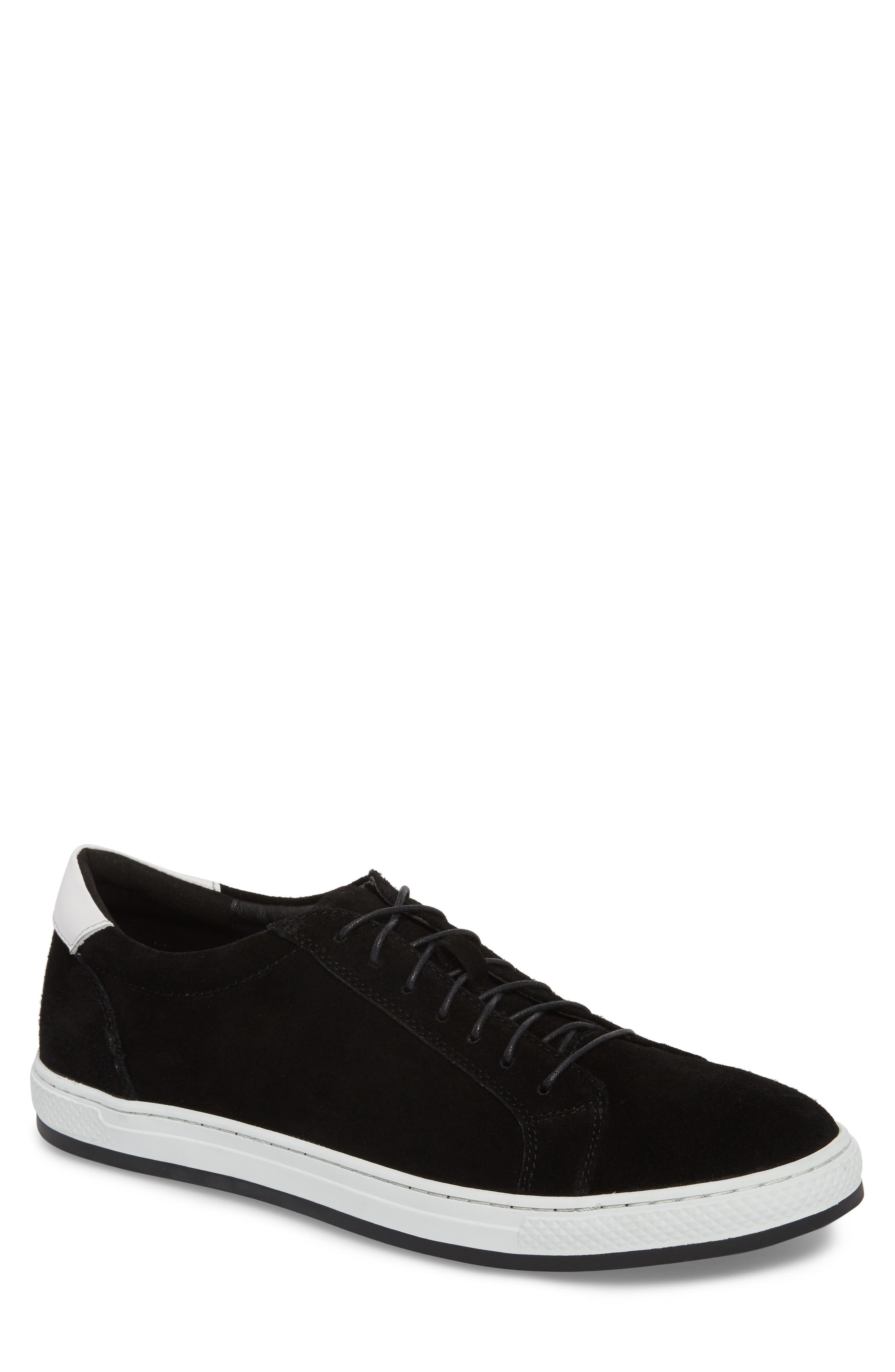 Queens Sneaker,                         Main,                         color, Black Suede