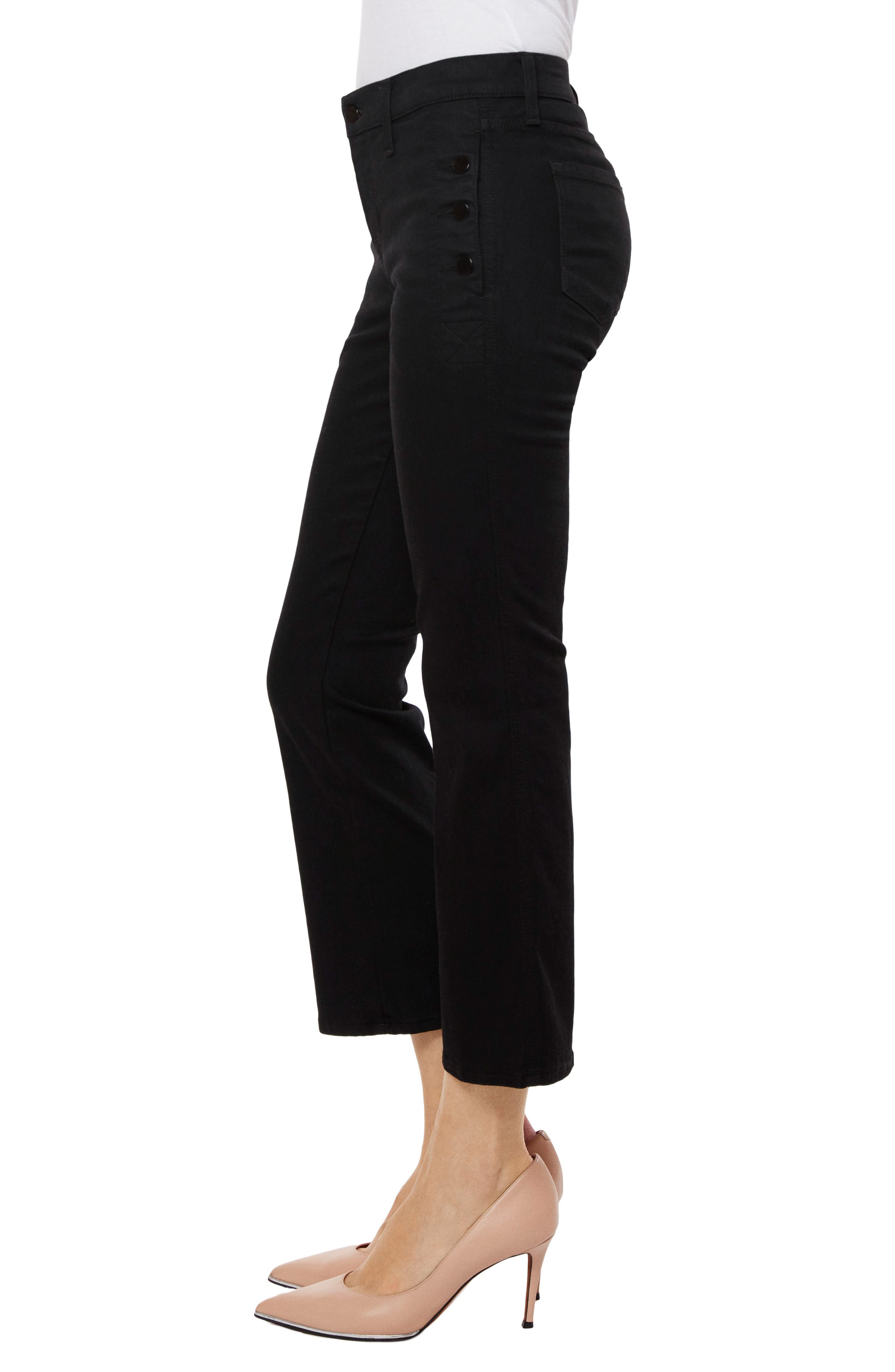 Zion Crop Flare Jeans,                             Alternate thumbnail 3, color,                             Vanity