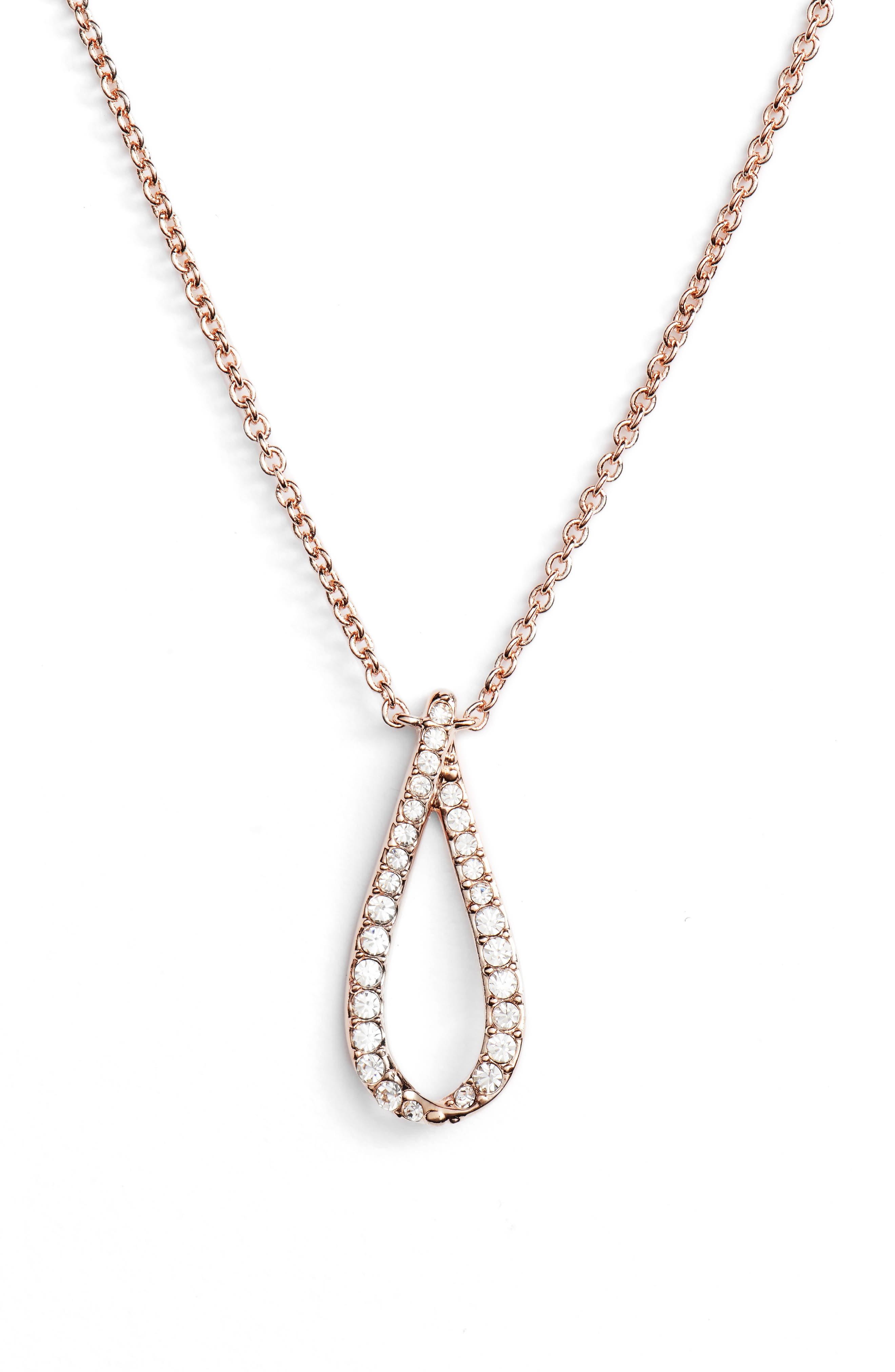 Citron Pendant Necklace,                         Main,                         color, Rose Gold