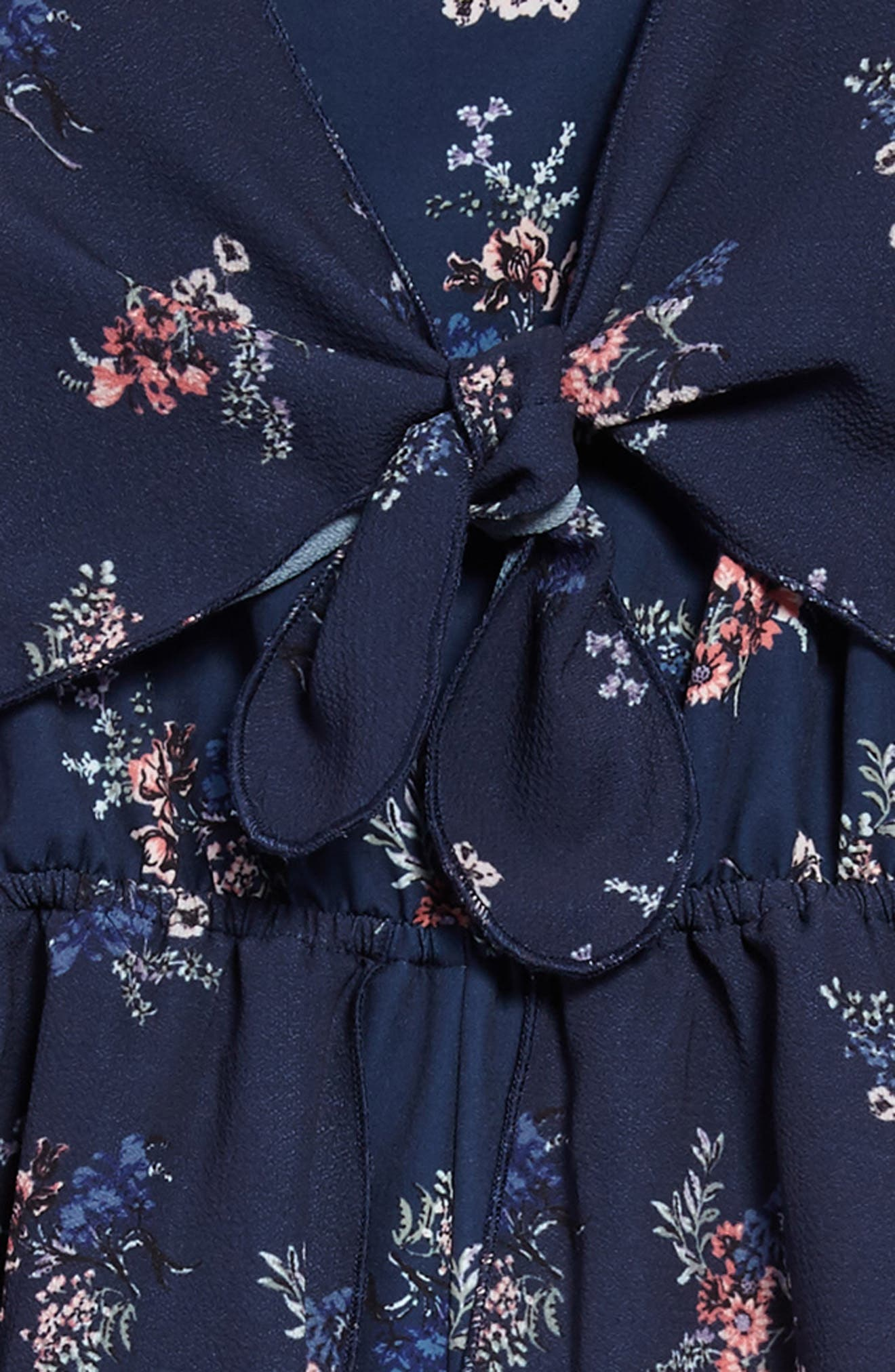 Floral Walk Through Romper,                             Alternate thumbnail 3, color,                             Navy Floral