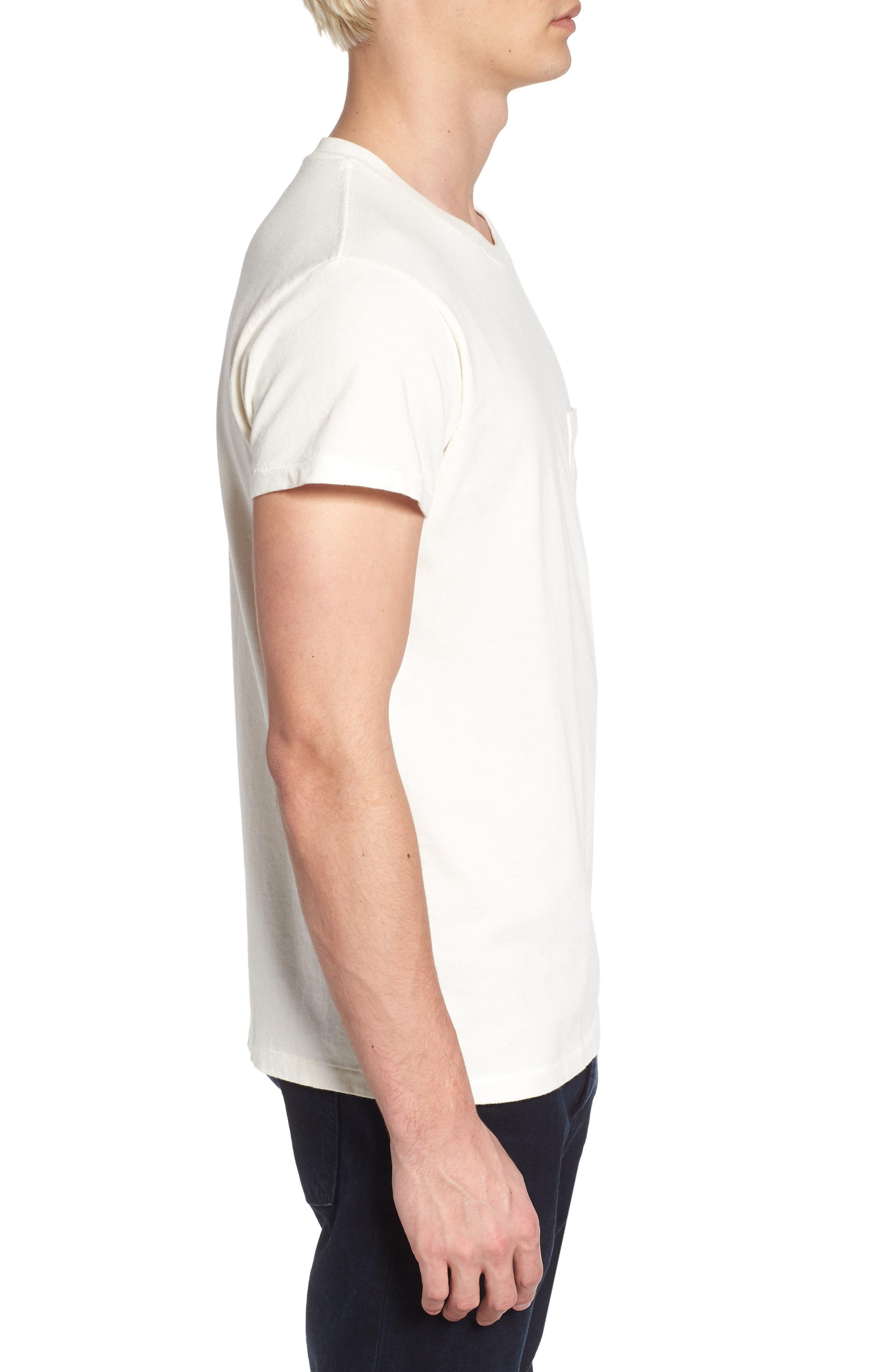 1950s Sportswear Pocket T-Shirt,                             Alternate thumbnail 3, color,                             White