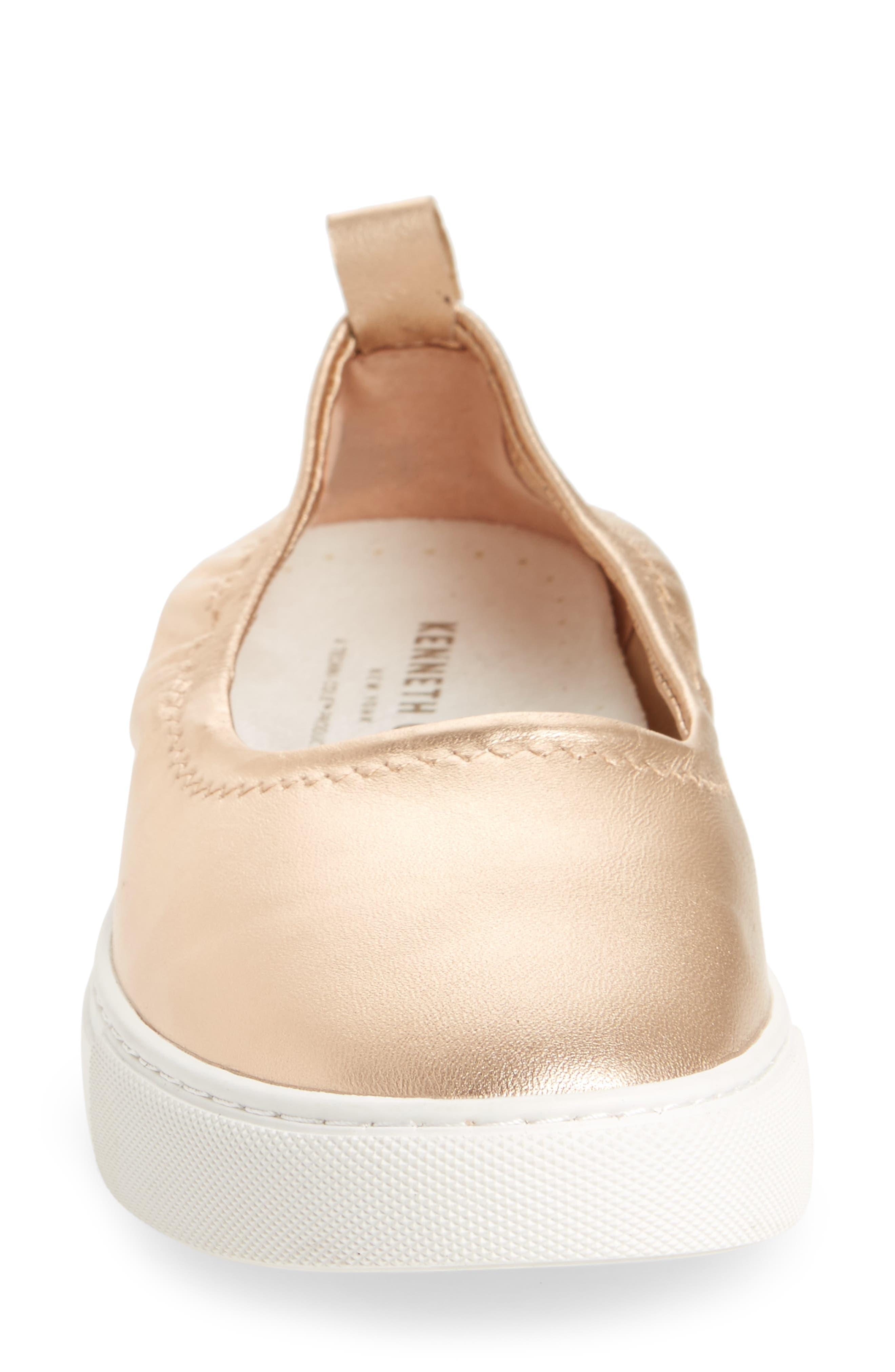 Kam Techni-Cole Ballet Flat,                             Alternate thumbnail 4, color,                             Rose Gold Leather