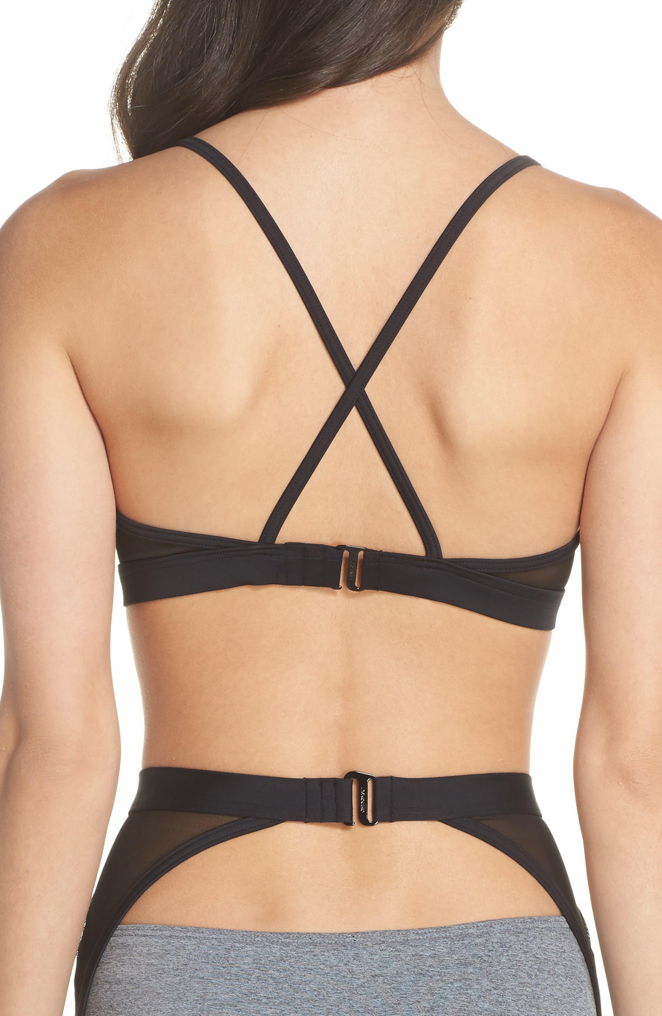 Alva Bikini Top,                             Alternate thumbnail 3, color,                             Heather Grey