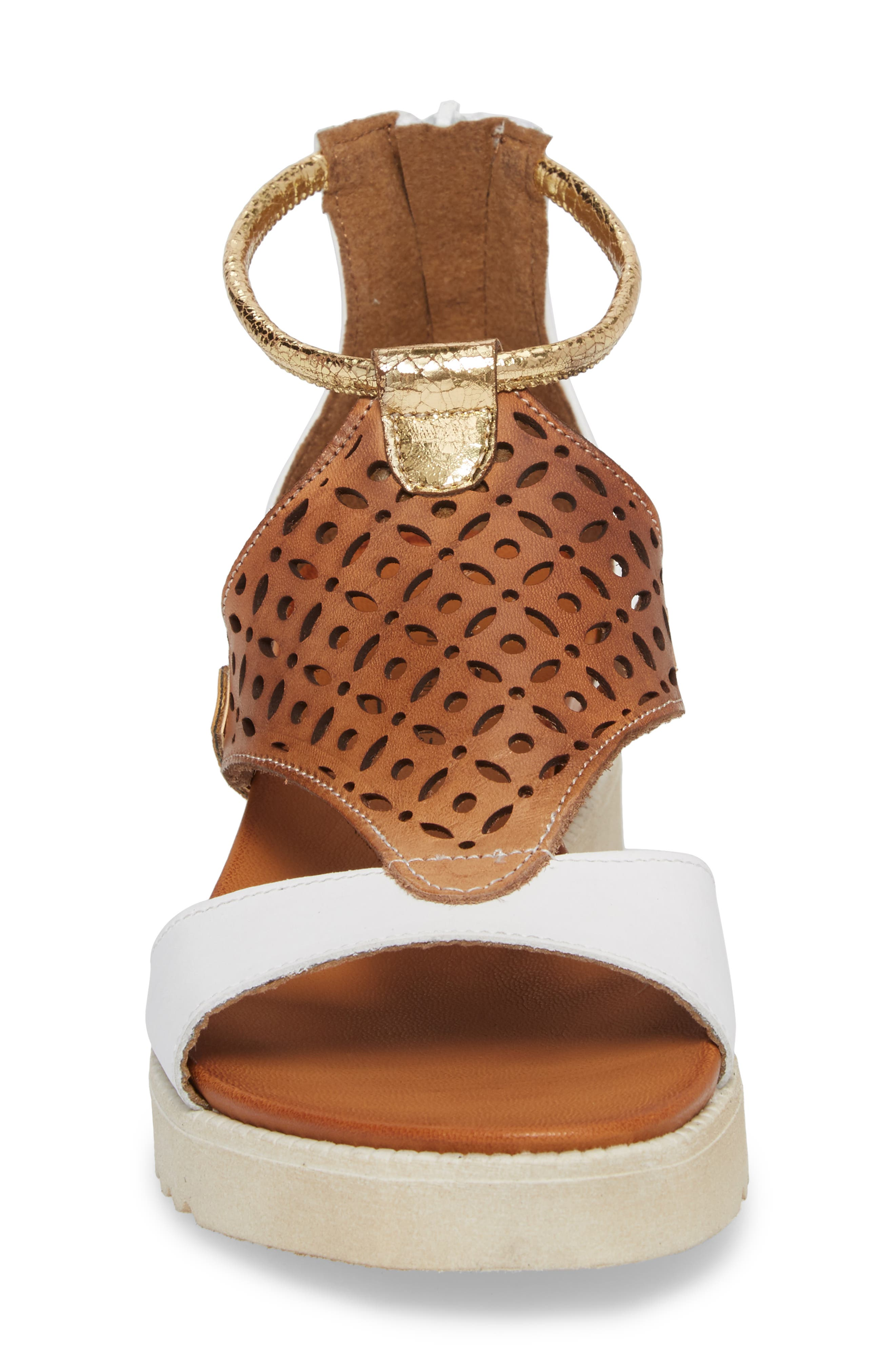Blaze Sandal,                             Alternate thumbnail 6, color,                             White Combo Leather