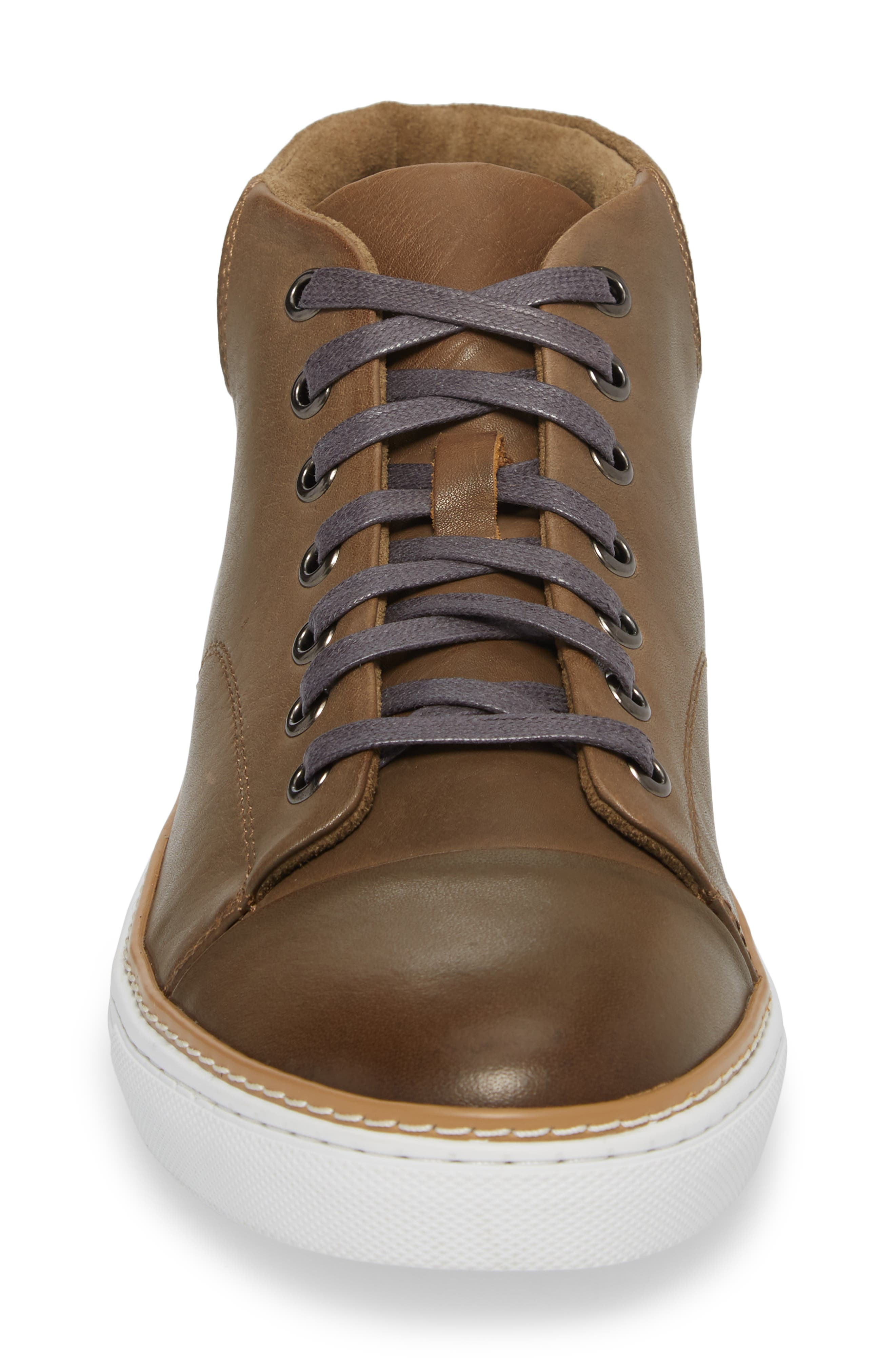 Grove Sneaker,                             Alternate thumbnail 4, color,                             Tan Leather