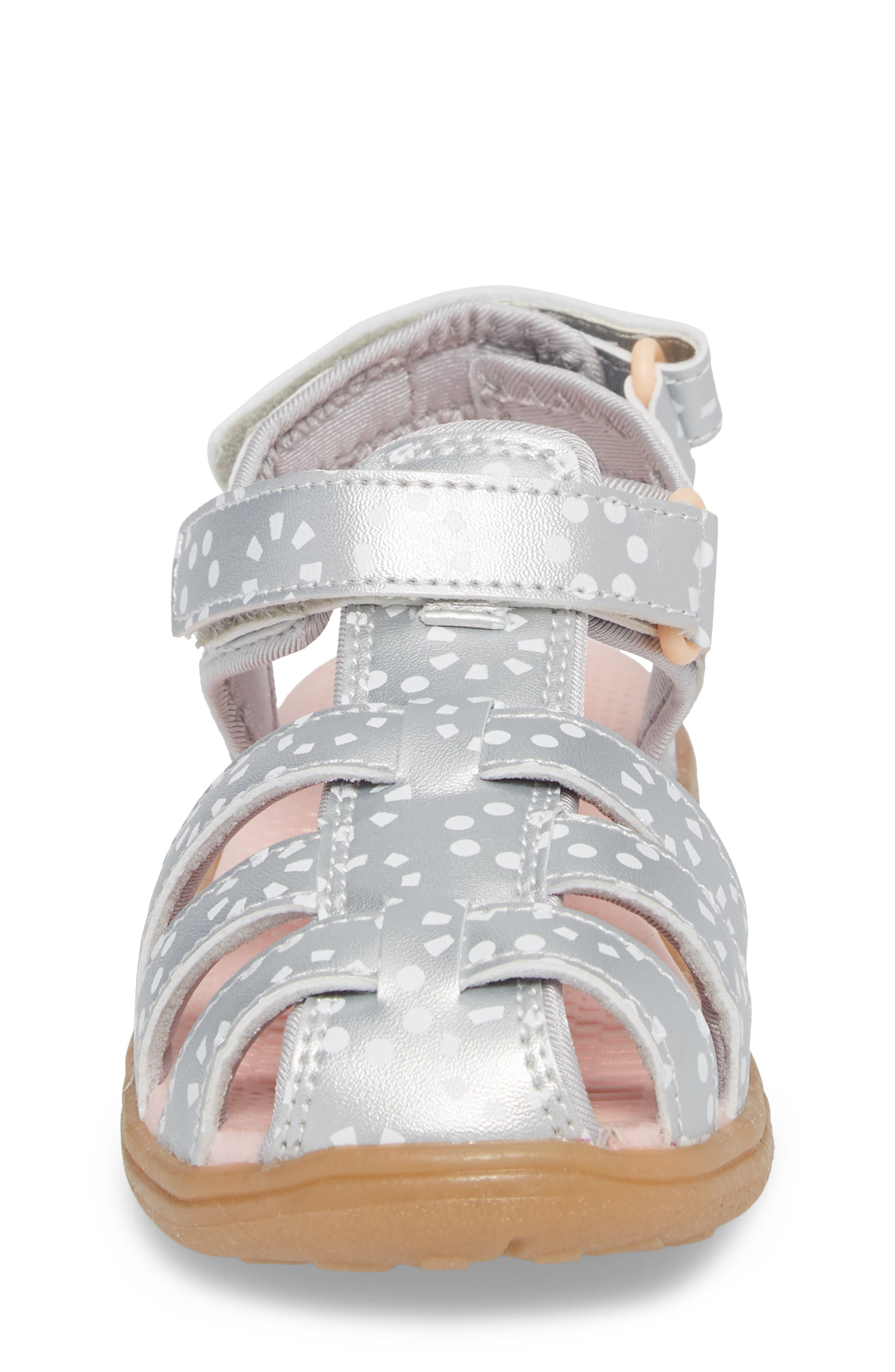 Paley Water Friendly Fisherman Sandal,                             Alternate thumbnail 5, color,                             Silver/ White