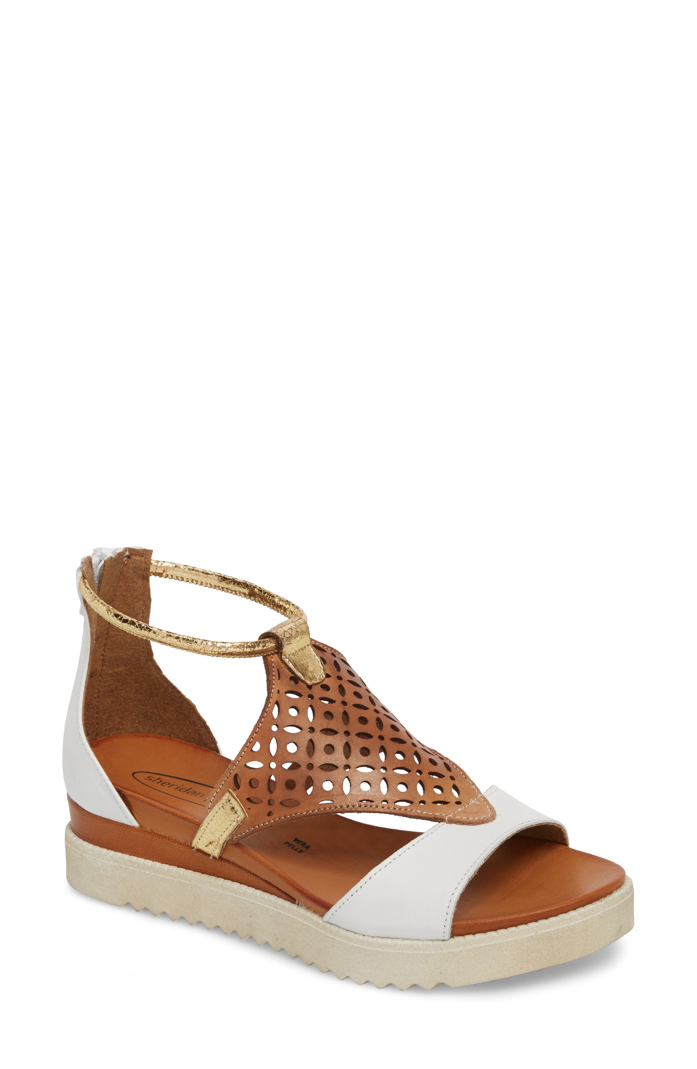 Blaze Sandal,                             Main thumbnail 1, color,                             White Combo Leather