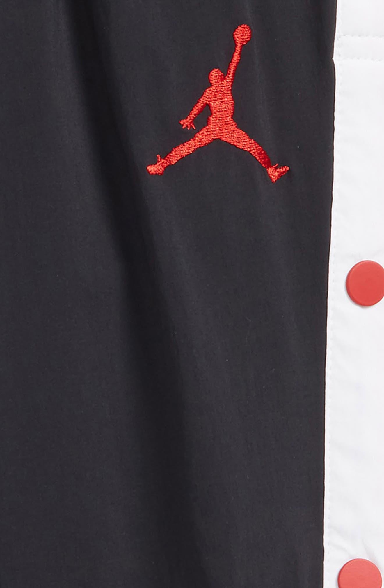 Jordan AJ '90s Snapaway Sweatpants,                             Alternate thumbnail 2, color,                             Black
