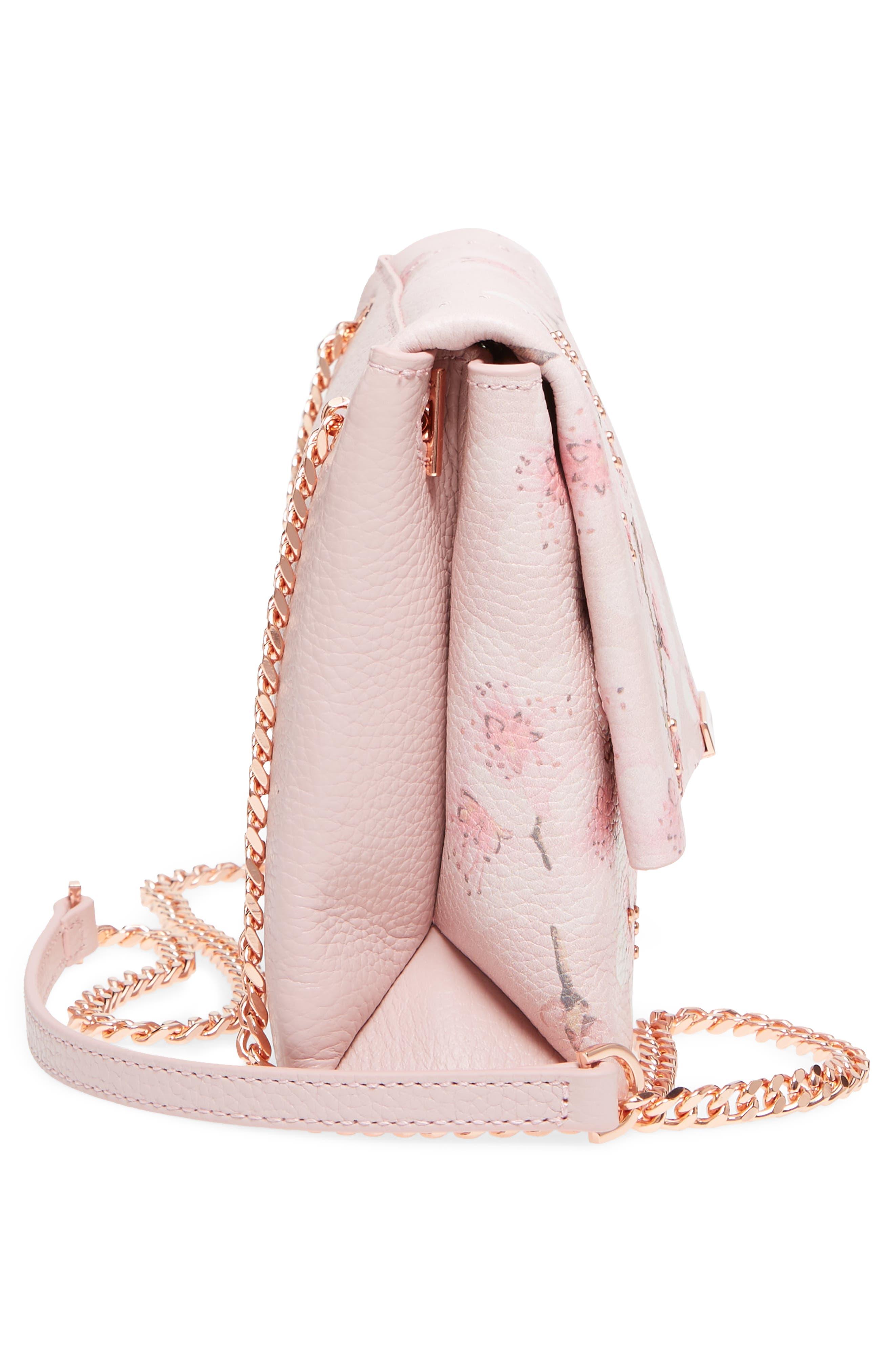 Alternate Image 5  - Ted Baker London Jayy Soft Blossom Leather Crossbody Bag