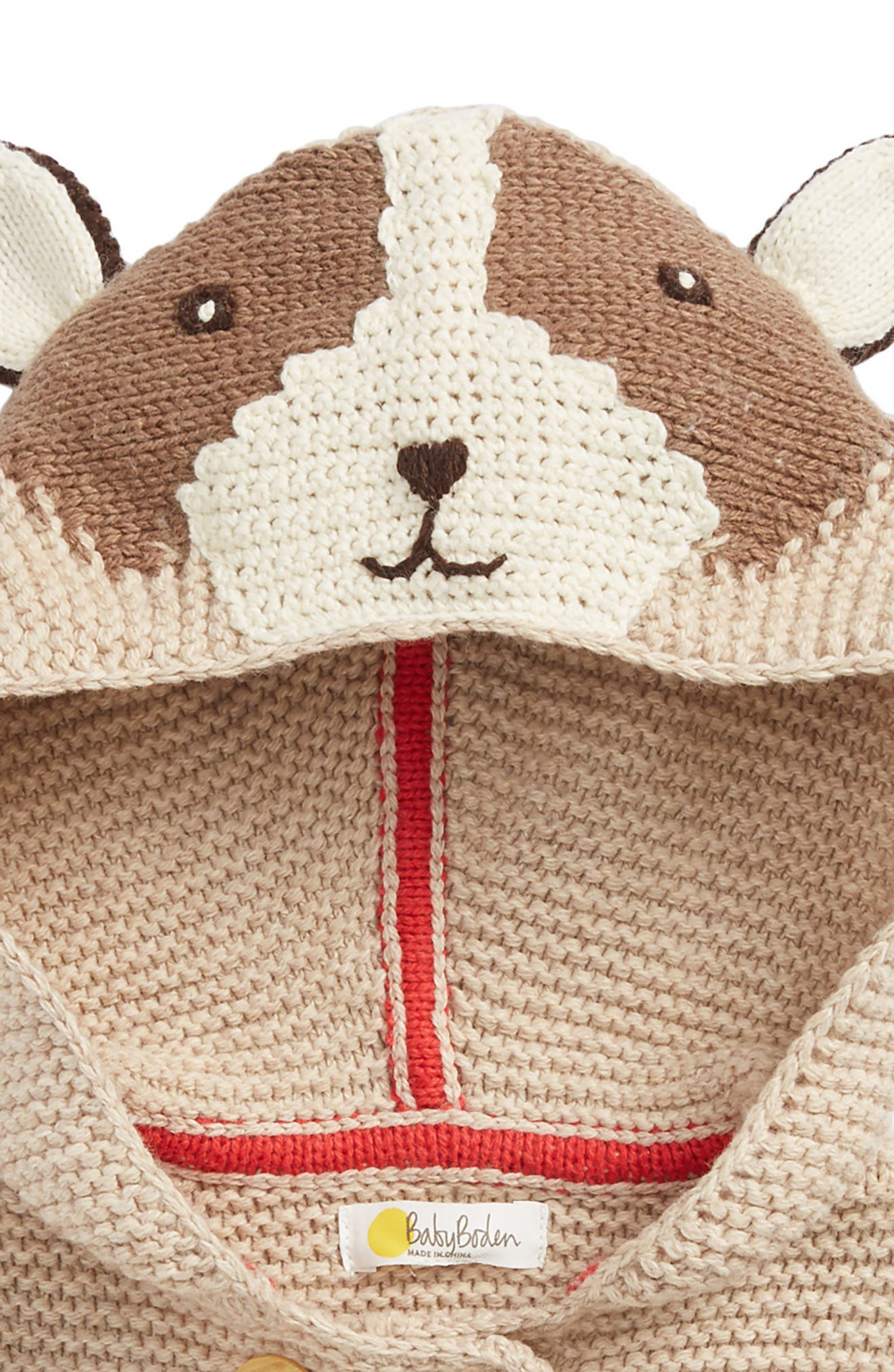 Knitted Critter Jacket,                             Alternate thumbnail 2, color,                             Oatmeal Marl