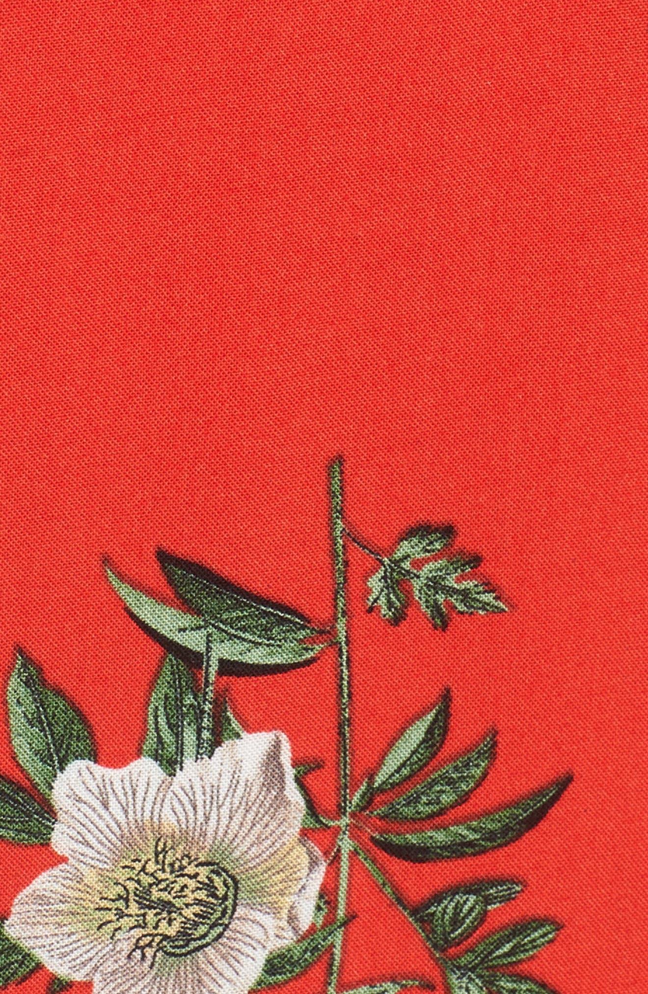 Alternate Image 5  - Band of Gypsies Floral Print Tie Waist Dress
