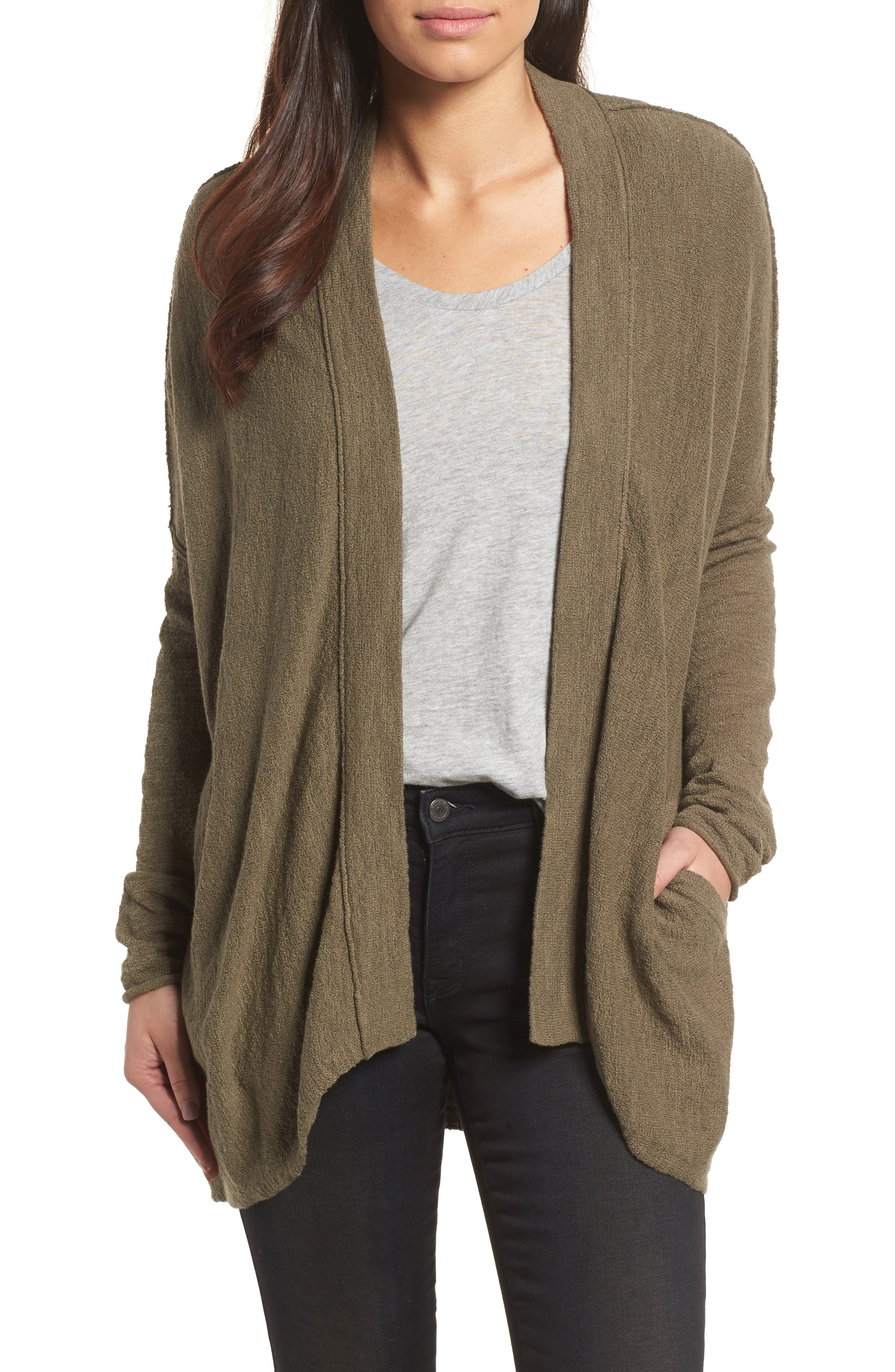 Caslon® Drop Shoulder Cardigan (Regular & Petite)