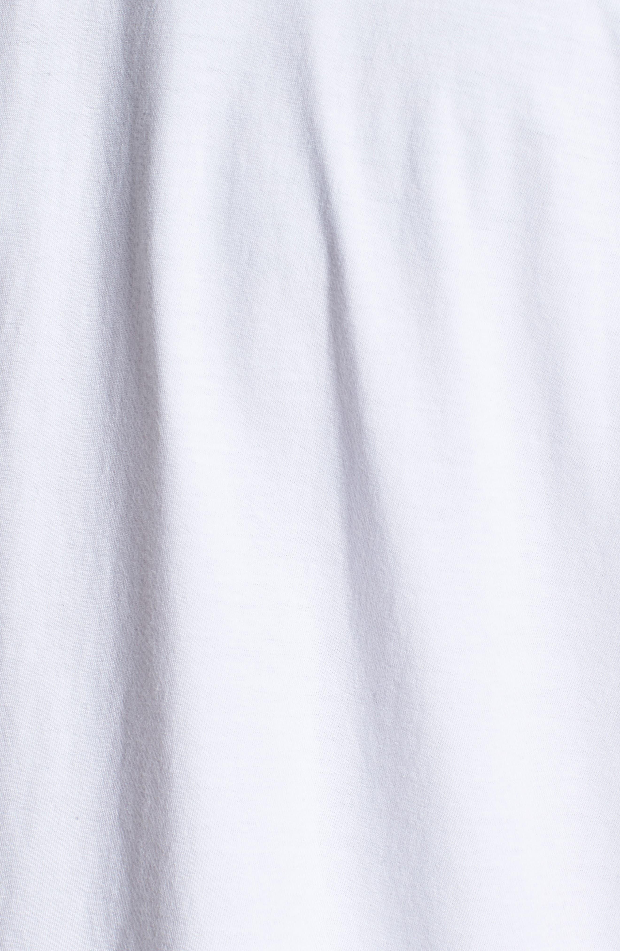Logo Tape T-Shirt,                             Alternate thumbnail 5, color,                             Standard White