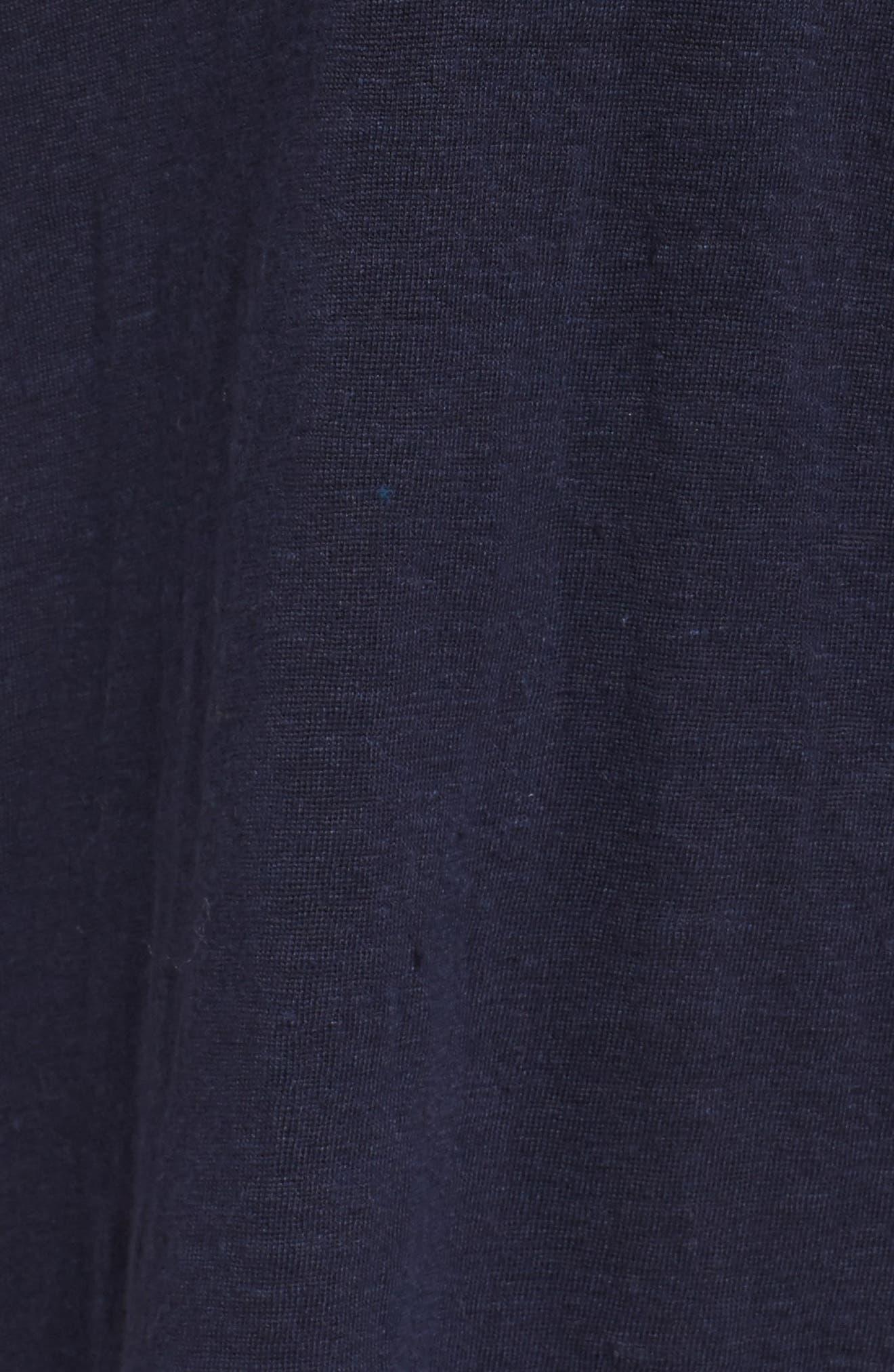 Organic Linen Top,                             Alternate thumbnail 6, color,                             Midnight